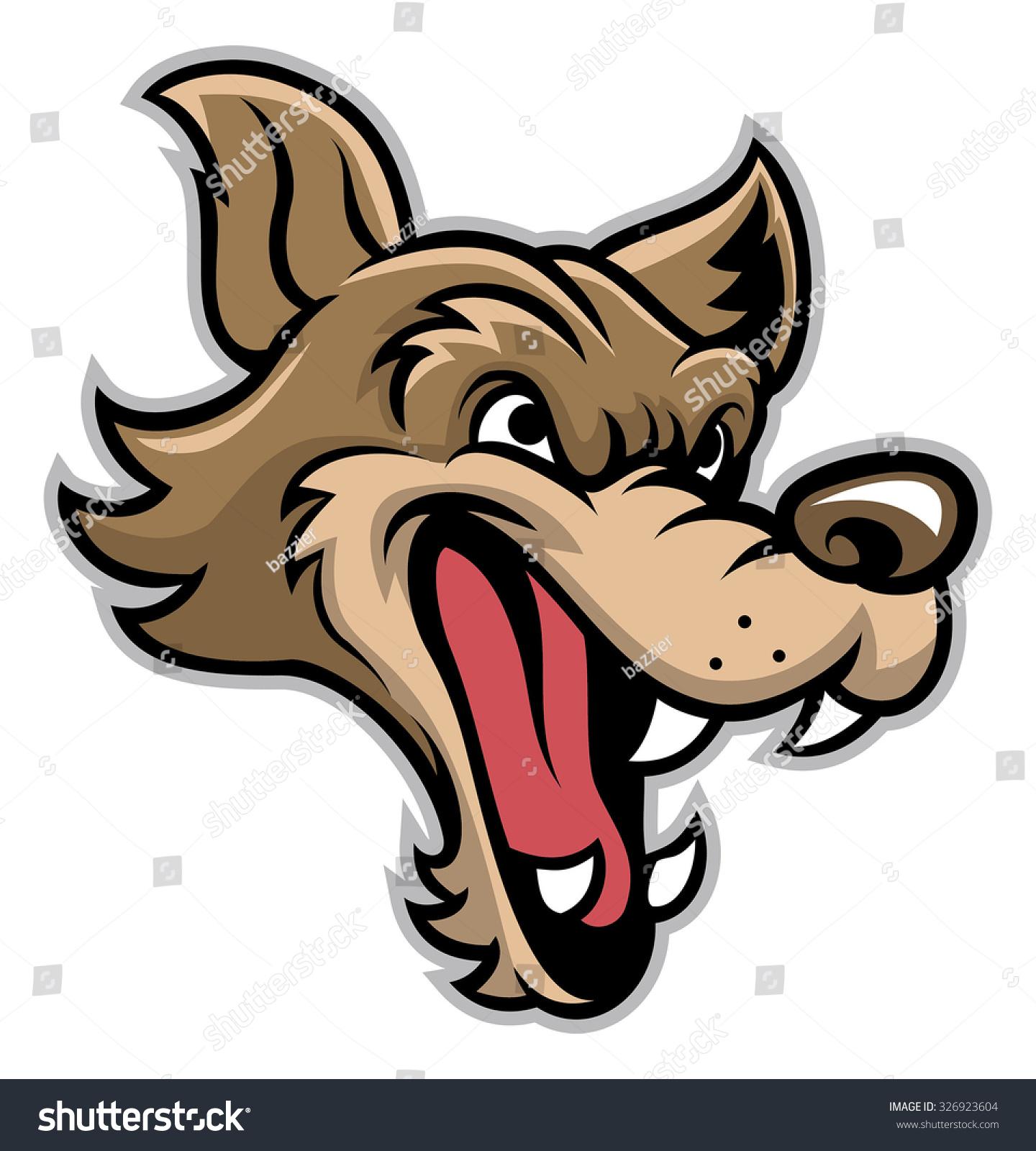 how to draw a cartoon wolf head