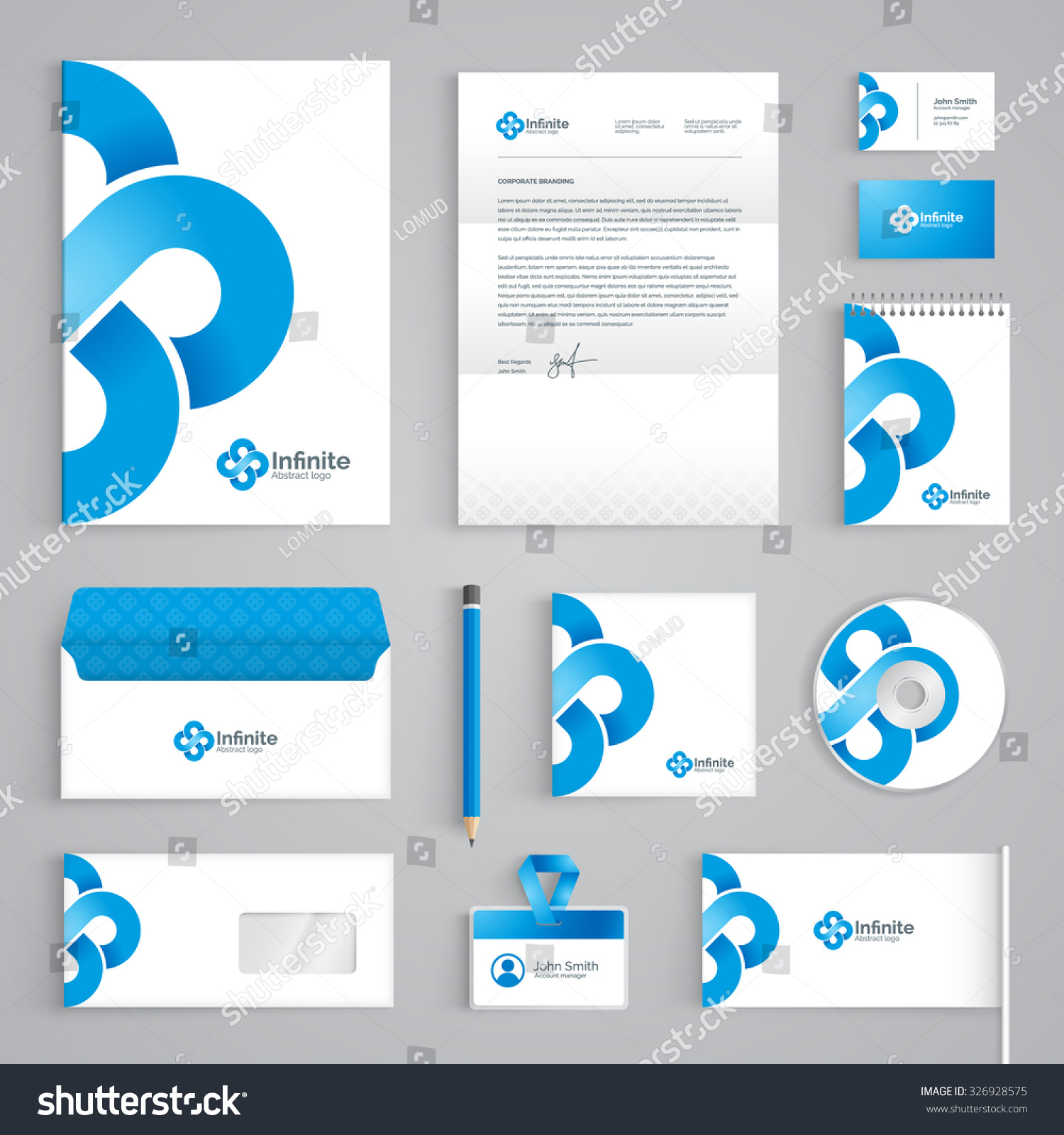 Corporate Identity Branding Template Abstract Vector Stock Photo