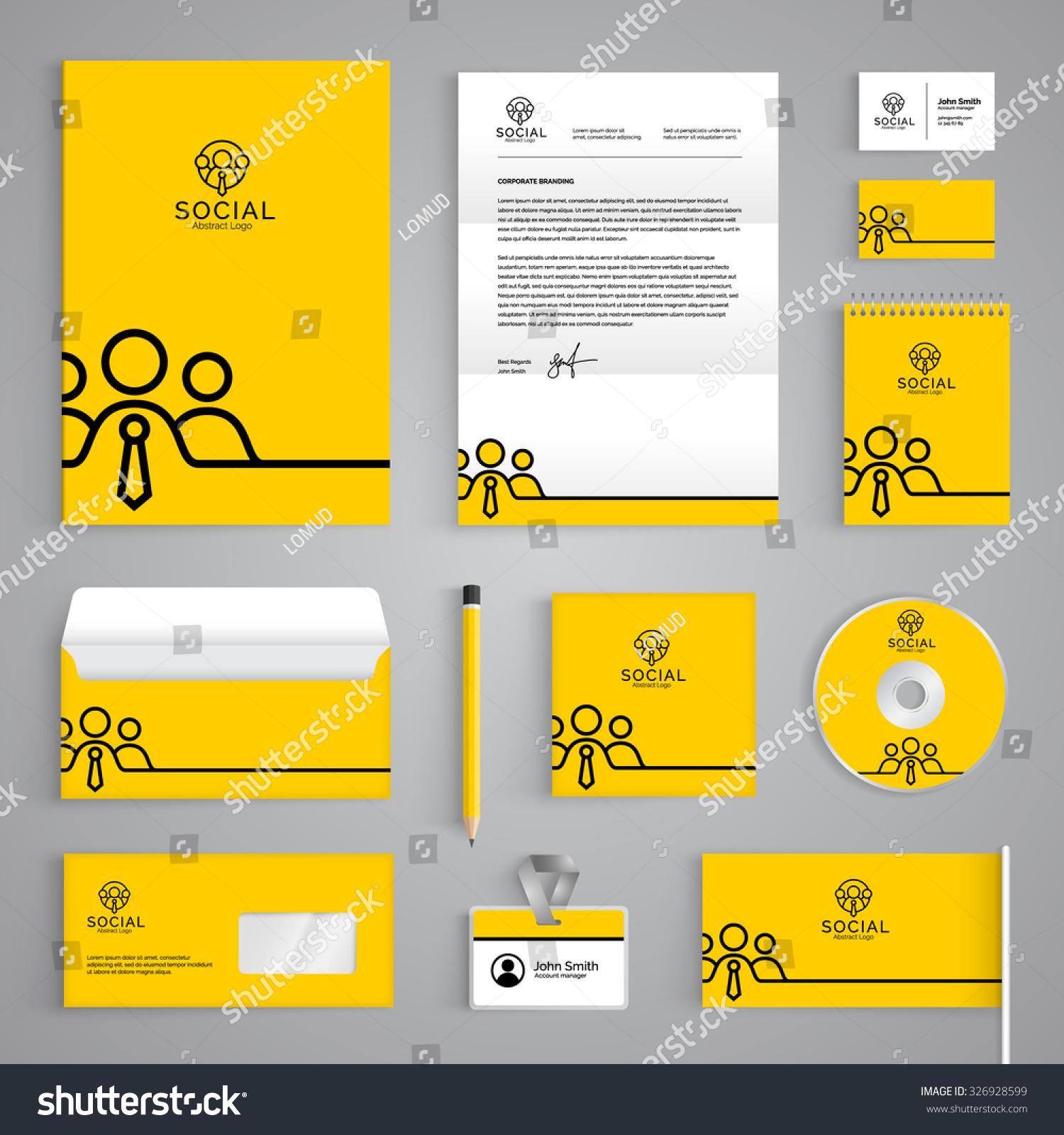 Corporate Identity Branding Template Vector Stationery Stock Vector