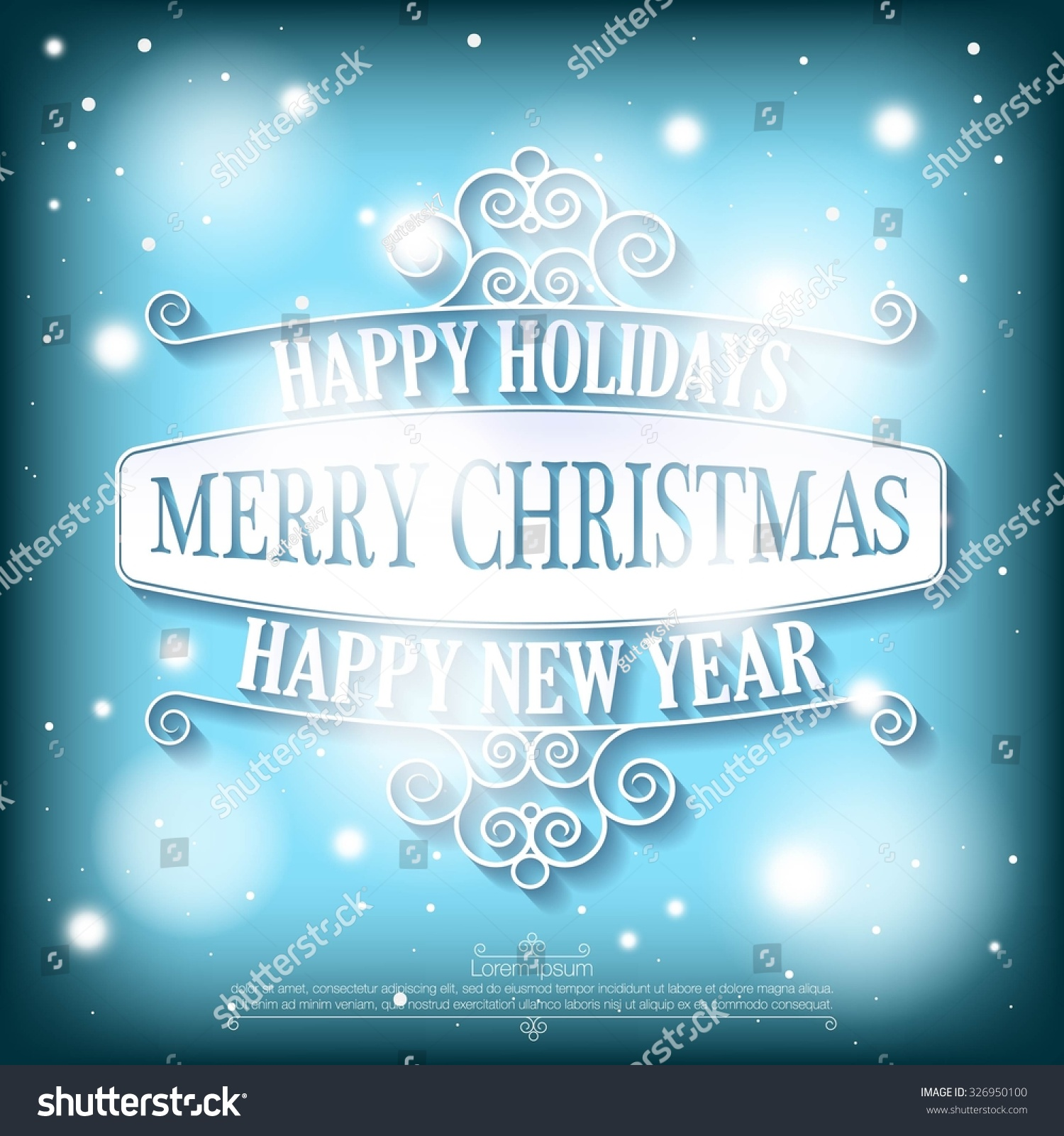 Happy Holidays Merry Christmas Happy New Stock Vector Royalty Free