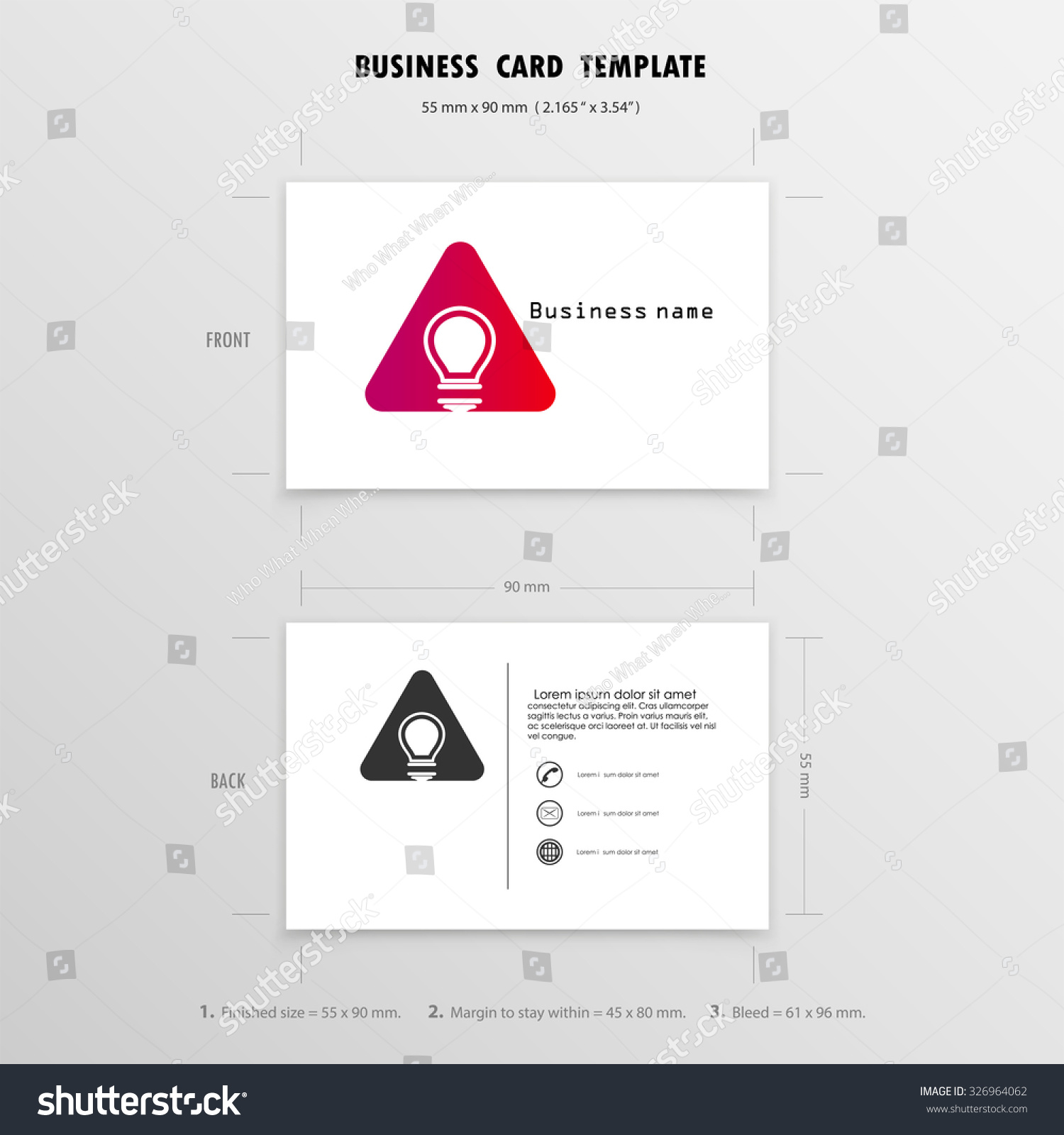 Lovely Image Of Sizes Of Business Cards – Business Cards and Resume