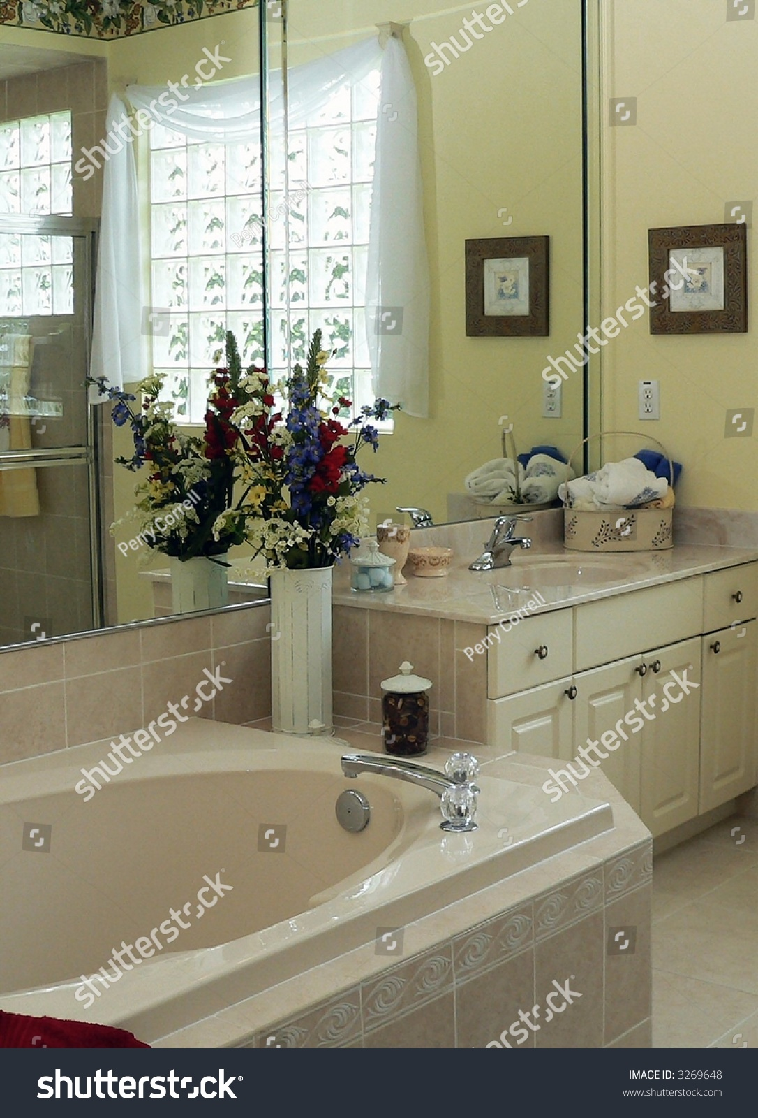 Contemporary Bathroom American Middle Class Home Stock Photo (Edit ...