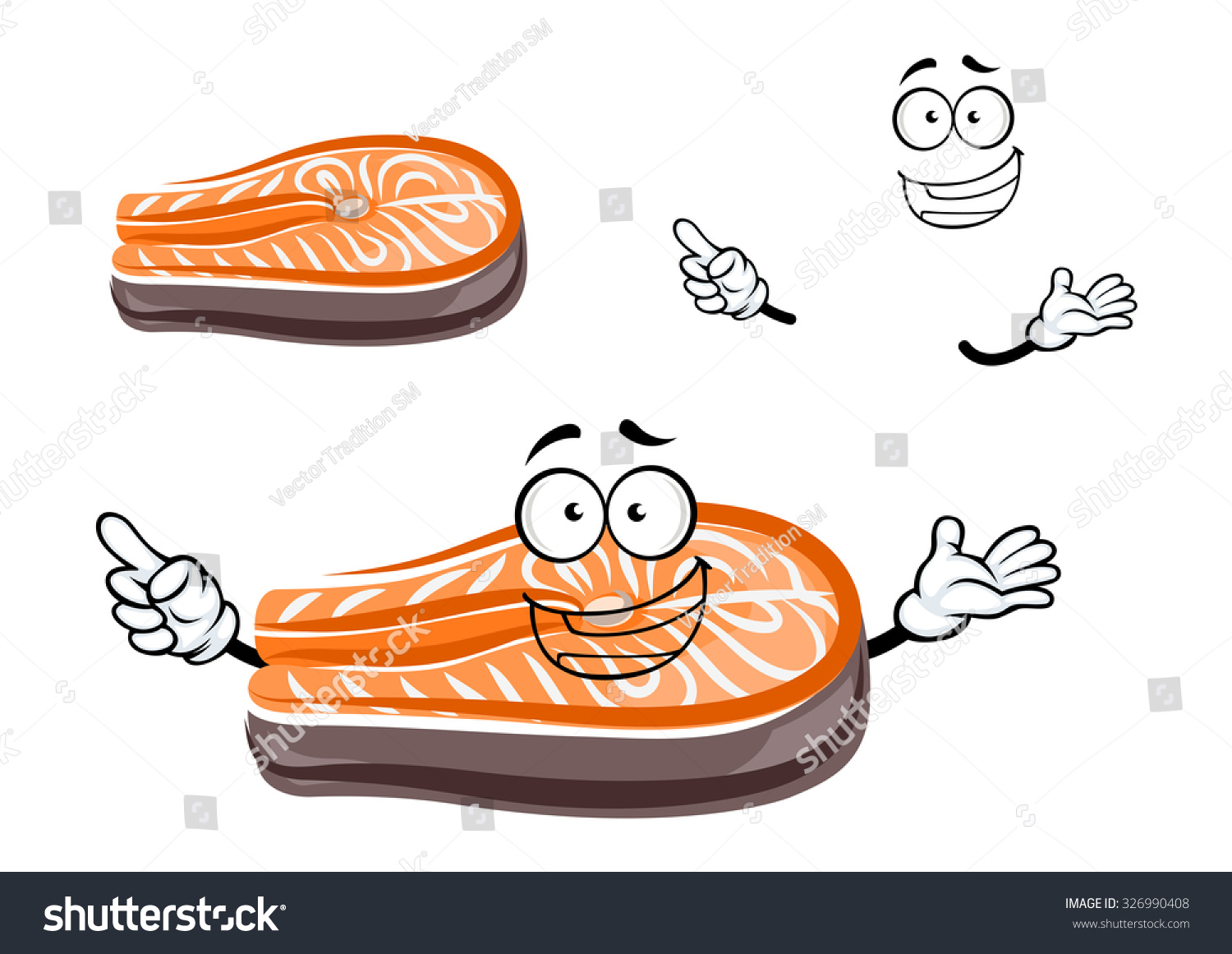 Funny salmon cartoon - photo#9