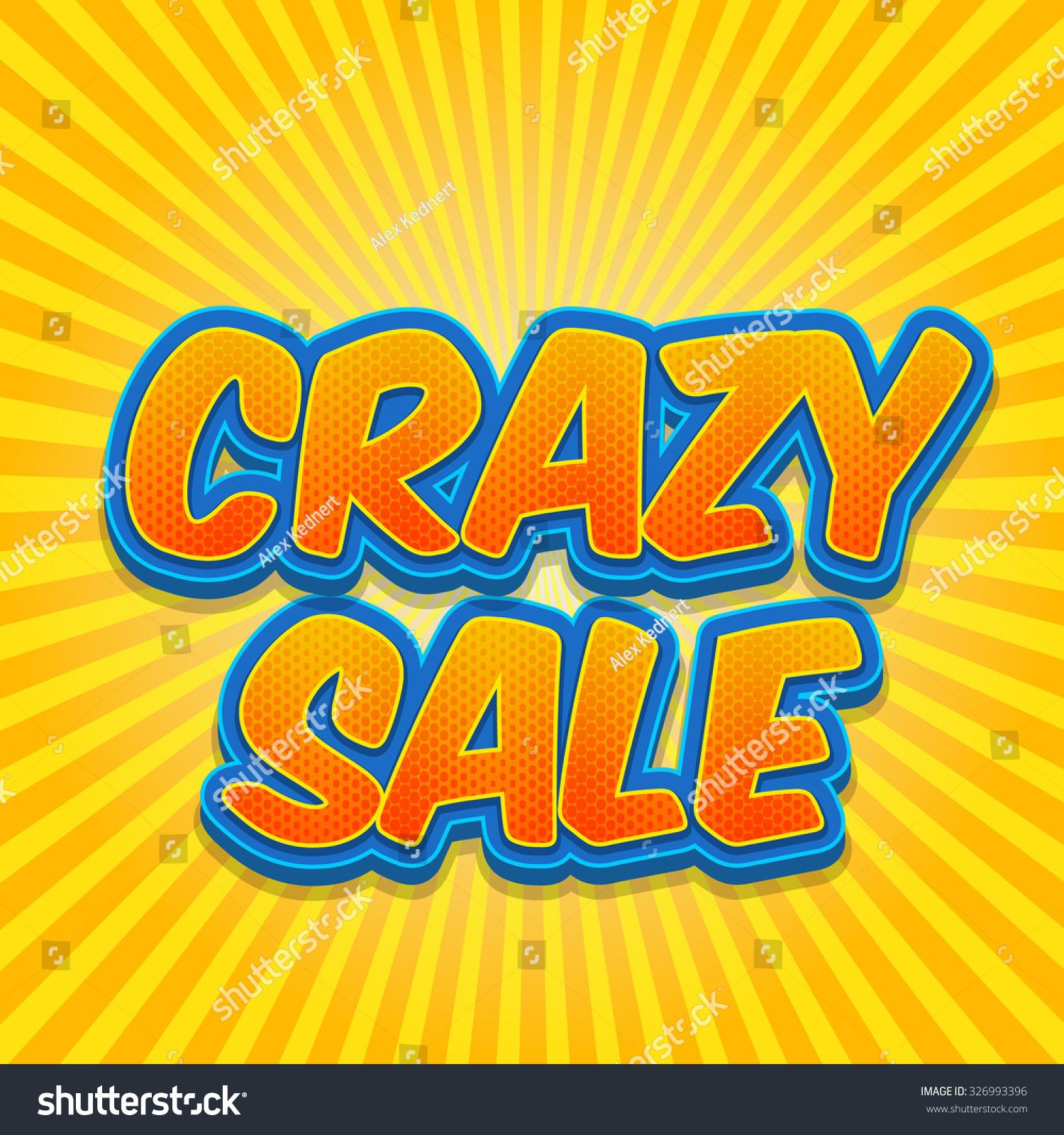 Free Comic Book Day Flyer: Banner Flyer Pop Art Comic Crazy Stock Vector 326993396