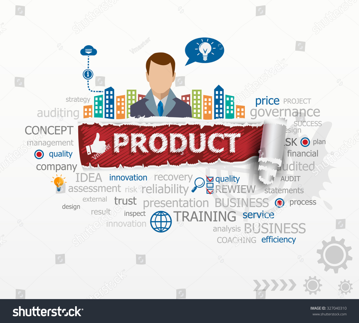 Product concept business man product design stock vector for Product design business