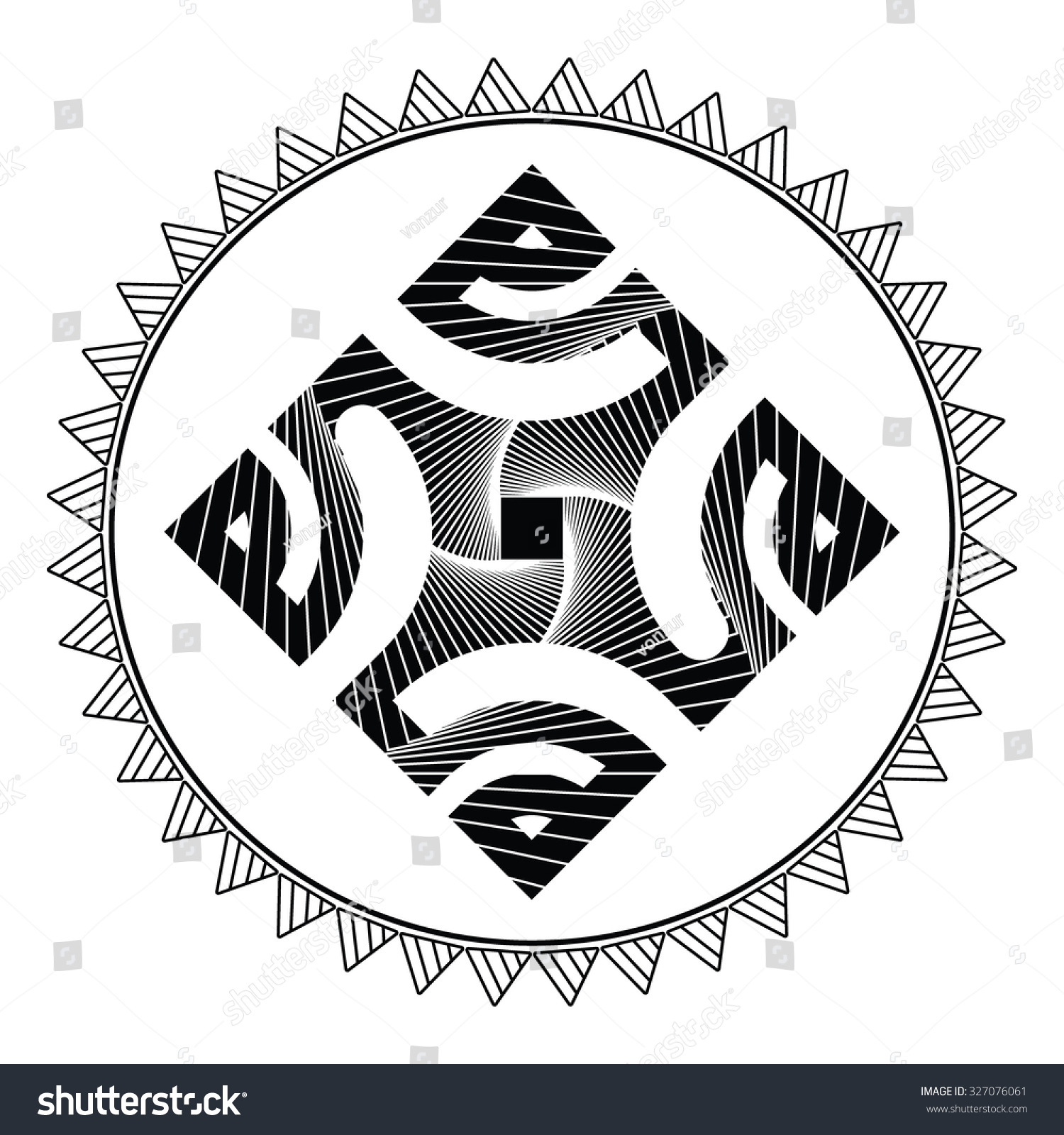 Marquesan Cross Symbol Which Used Polynesian Stock Vector Royalty