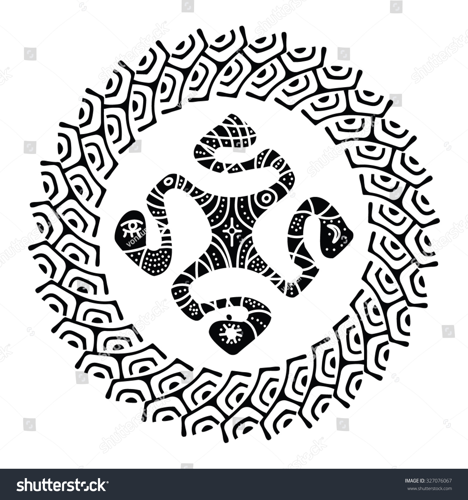 Stock Vector Marquesan Cross