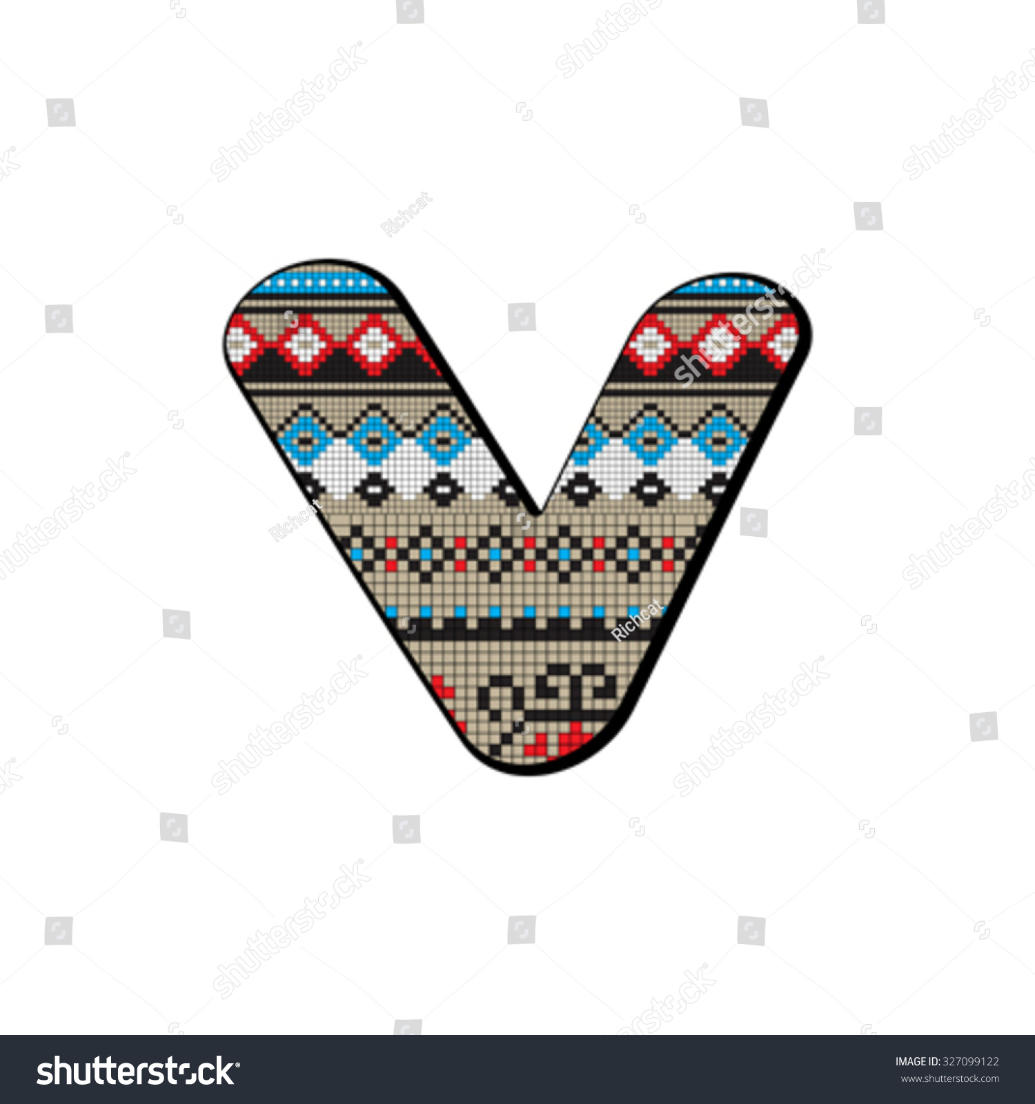 Decorated original font pixel art ethnic stock vector 327099122 decorated original font pixel art ethnic model inspired by a balkan motif over a funny biocorpaavc