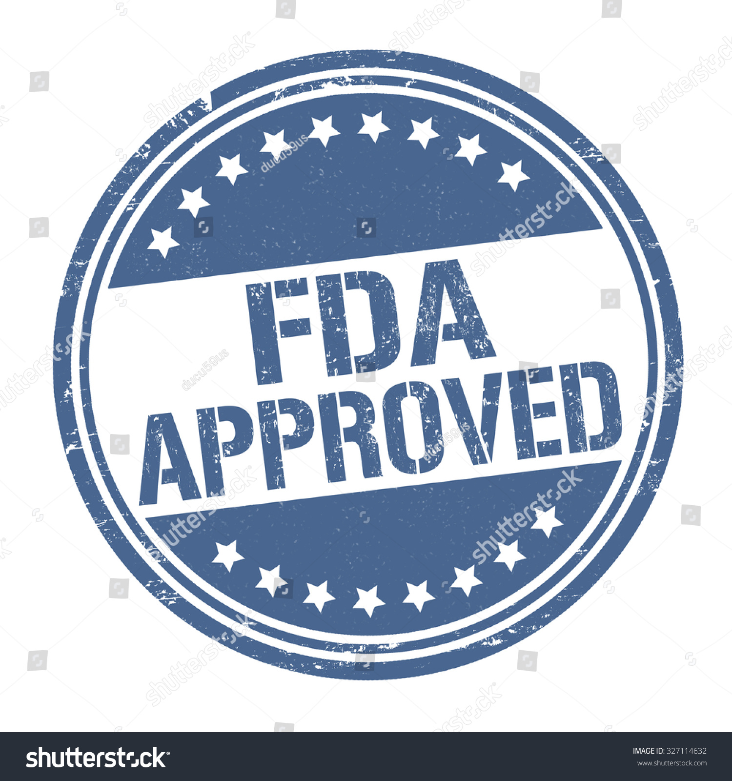 Fda Approved Grunge Rubber Stamp On Stock Vector 327114632