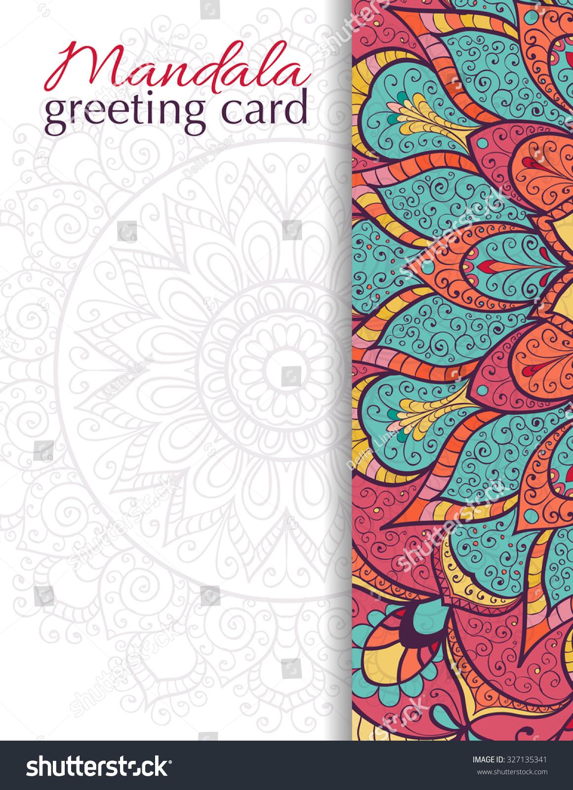 Card Invitation Mandala Vintage Decorative Elements Stock Vector ...