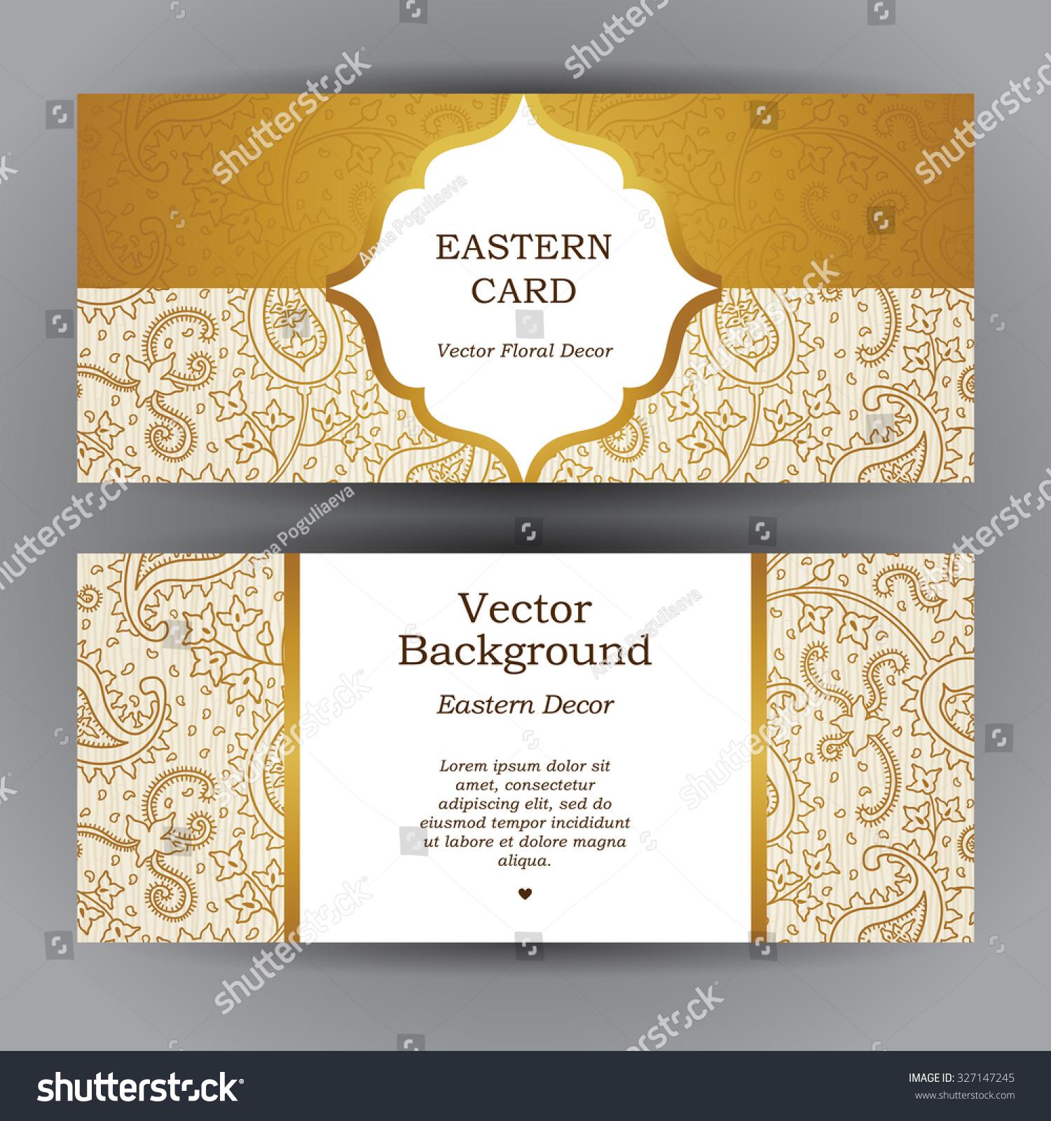 Royalty-free Ornate horizontal vintage cards.… #327147245 Stock ...