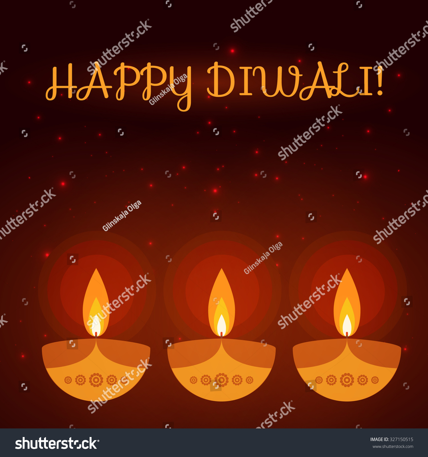 Diwali Greeting Card Colorful Background Made Stock Vector Royalty