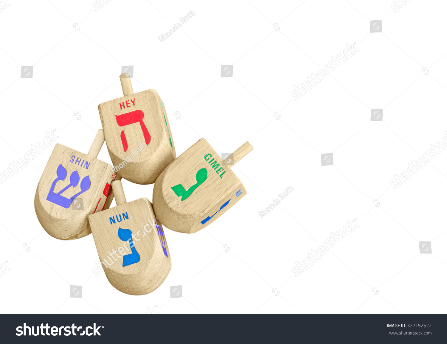 Group chanukah wooden dreidels isolated on stock photo 327152522 group of chanukah wooden dreidels isolated on white background top down view 4 large biocorpaavc