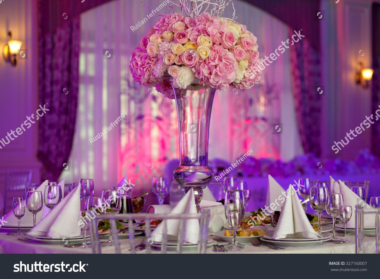 Table Setting Luxury Wedding Reception Beautiful Stock Photo (Edit ...