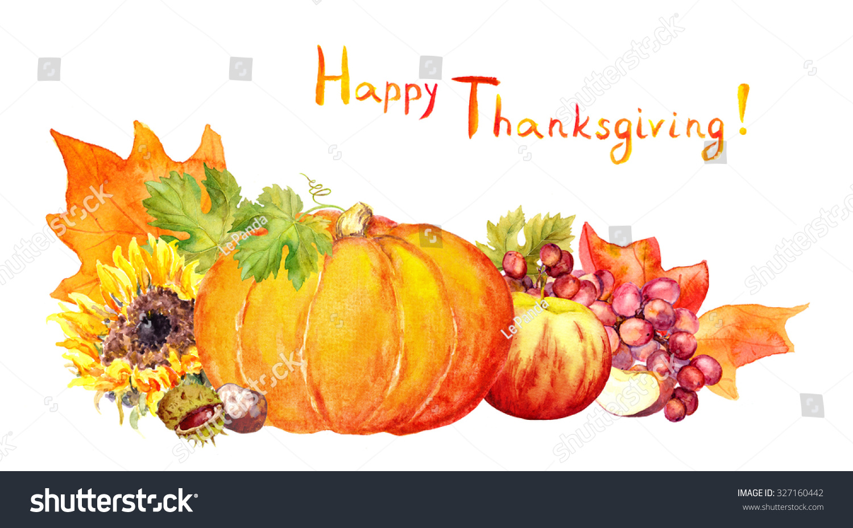 Thanksgiving Design Fruits Vegetables Pumpkin Apples ...