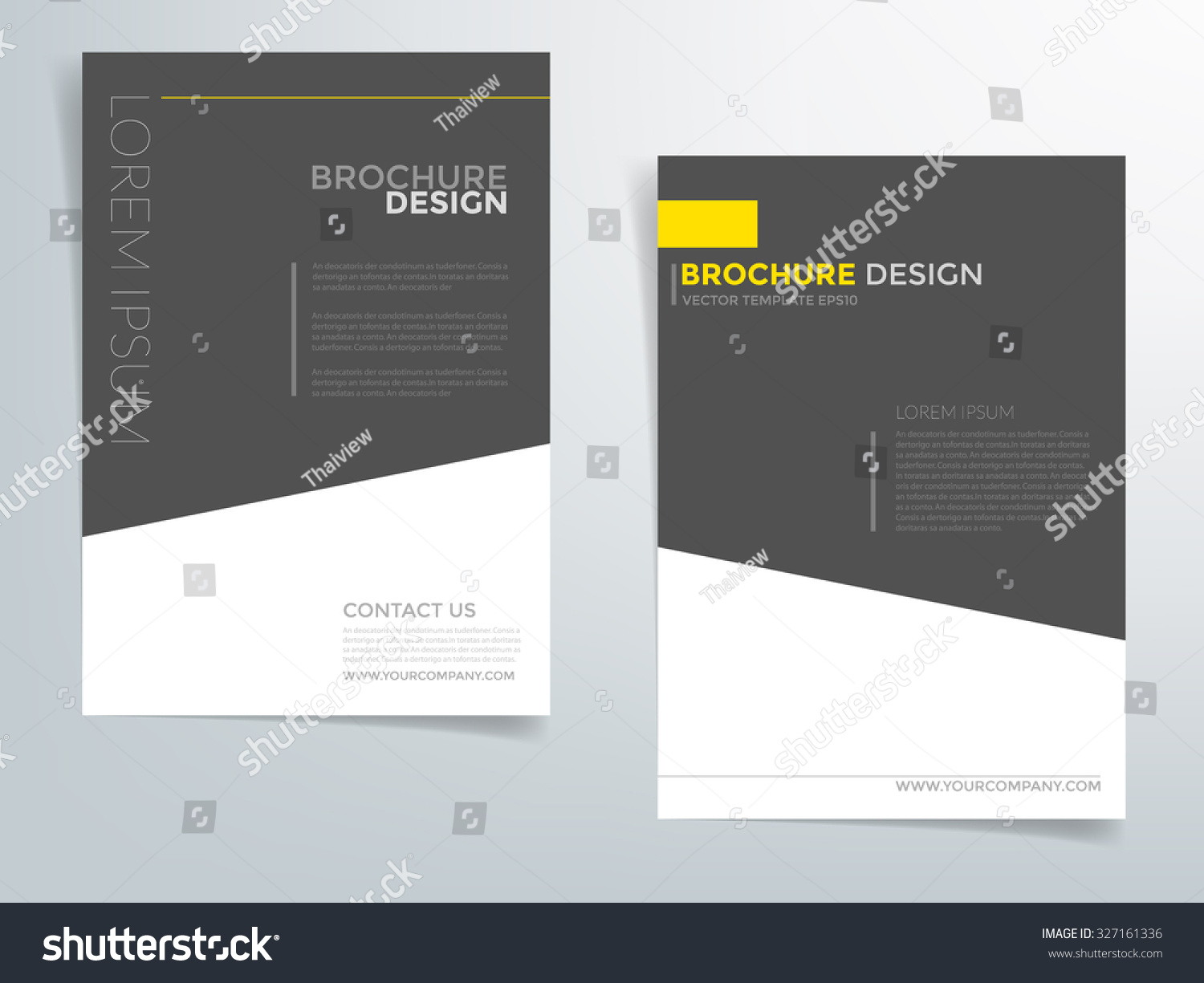 Brochure template flyer design vector background stock for Black brochure template