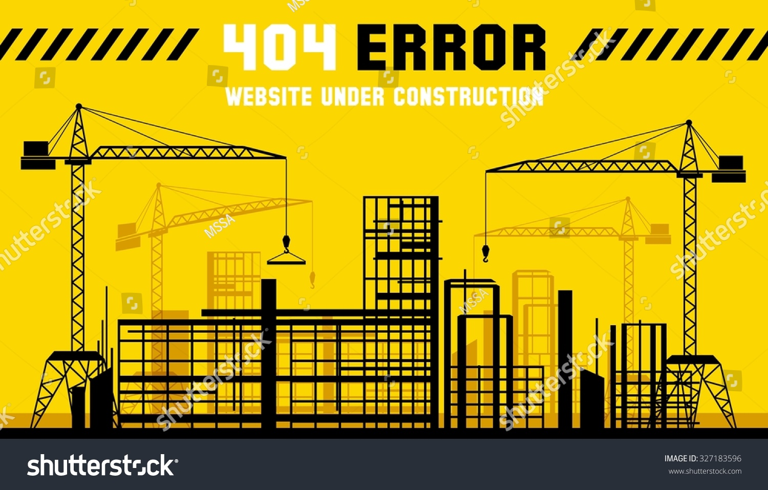 Under Construction Site 404 Page Construct Stock Vector Royalty Boat Electrical Wiring Diagrams Not Found Error Ever Web Banner