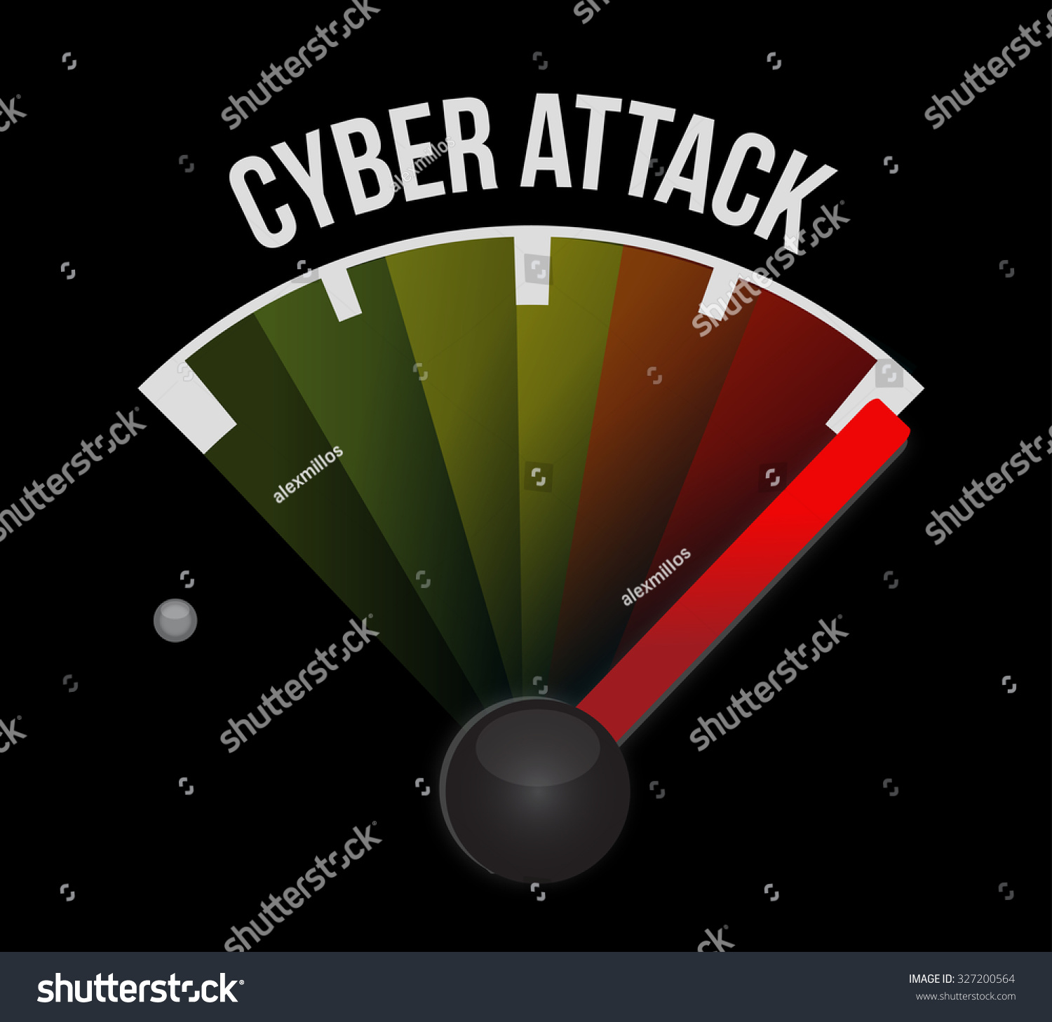 Cyber attack meter sign concept illustration stock for Design attack