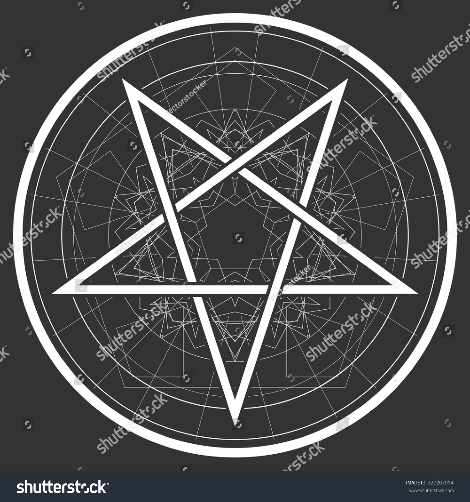 Baphomet Star Reversed Pentagram Satanic Sign Stock Vector Royalty