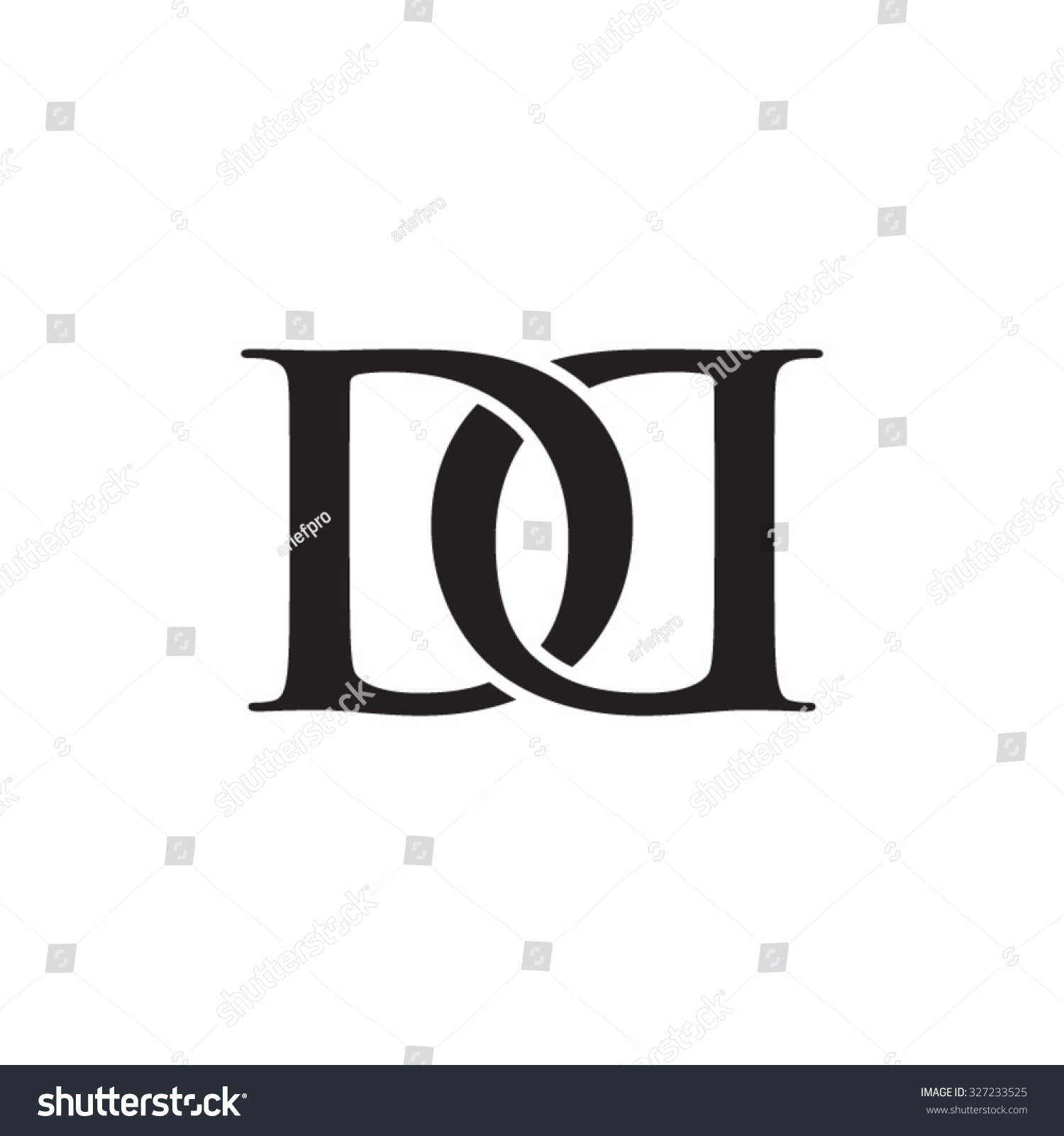 dd chain letter monogram stock vector royalty free 327233525