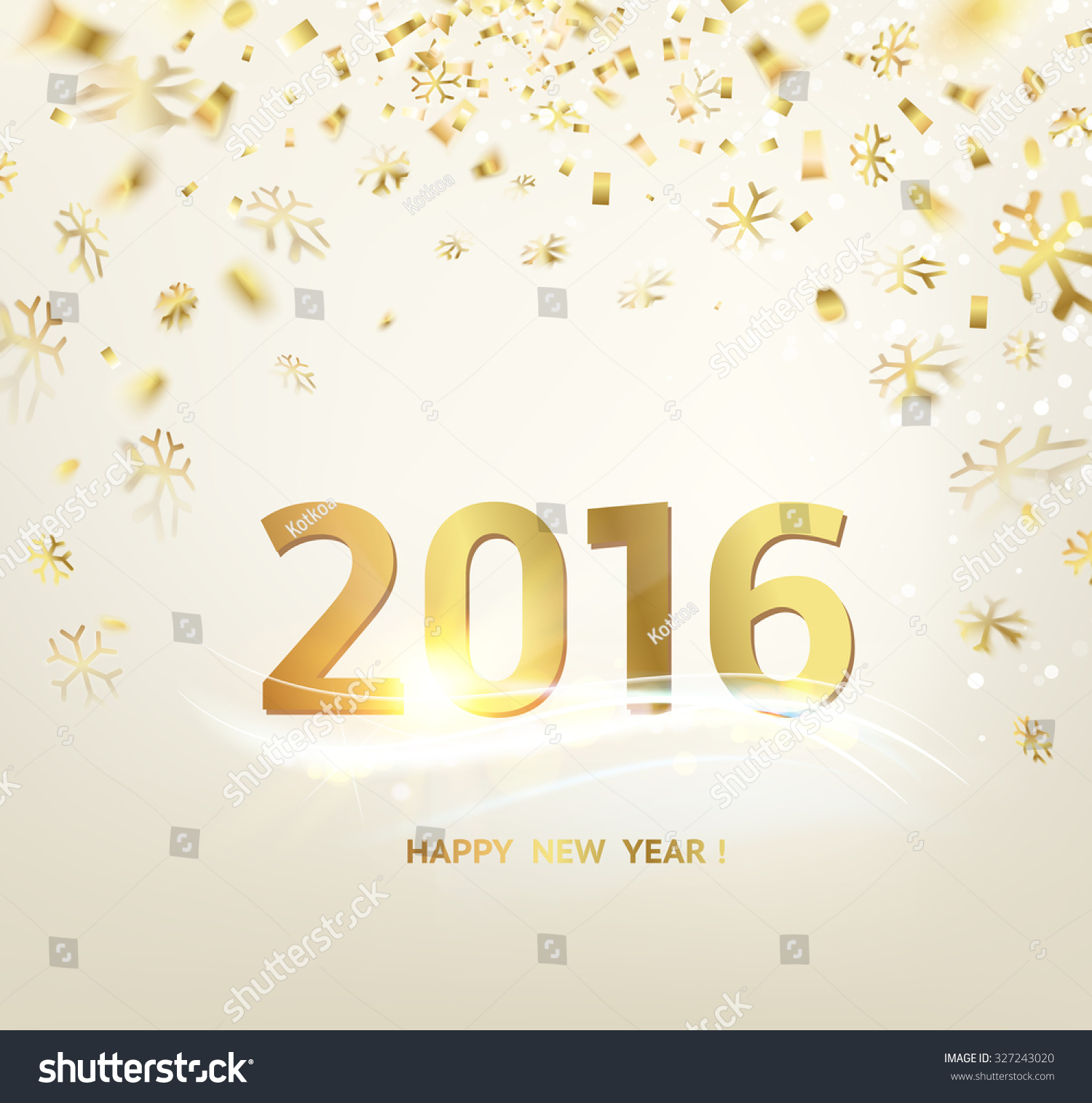 Happy New Year Card Template Over Gray Background With Free Happy ...