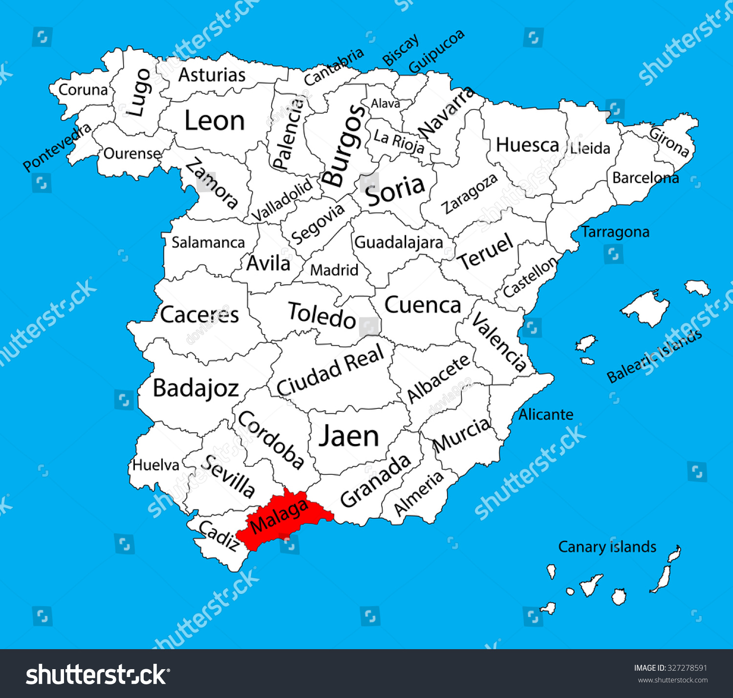 Map Of Malaga Area Spain.Malaga Map Silhouette Vector Spain Province Stock Vector Royalty