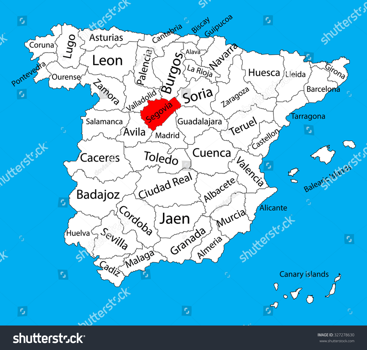 Segovia Spain Map | dijkversterkingbas