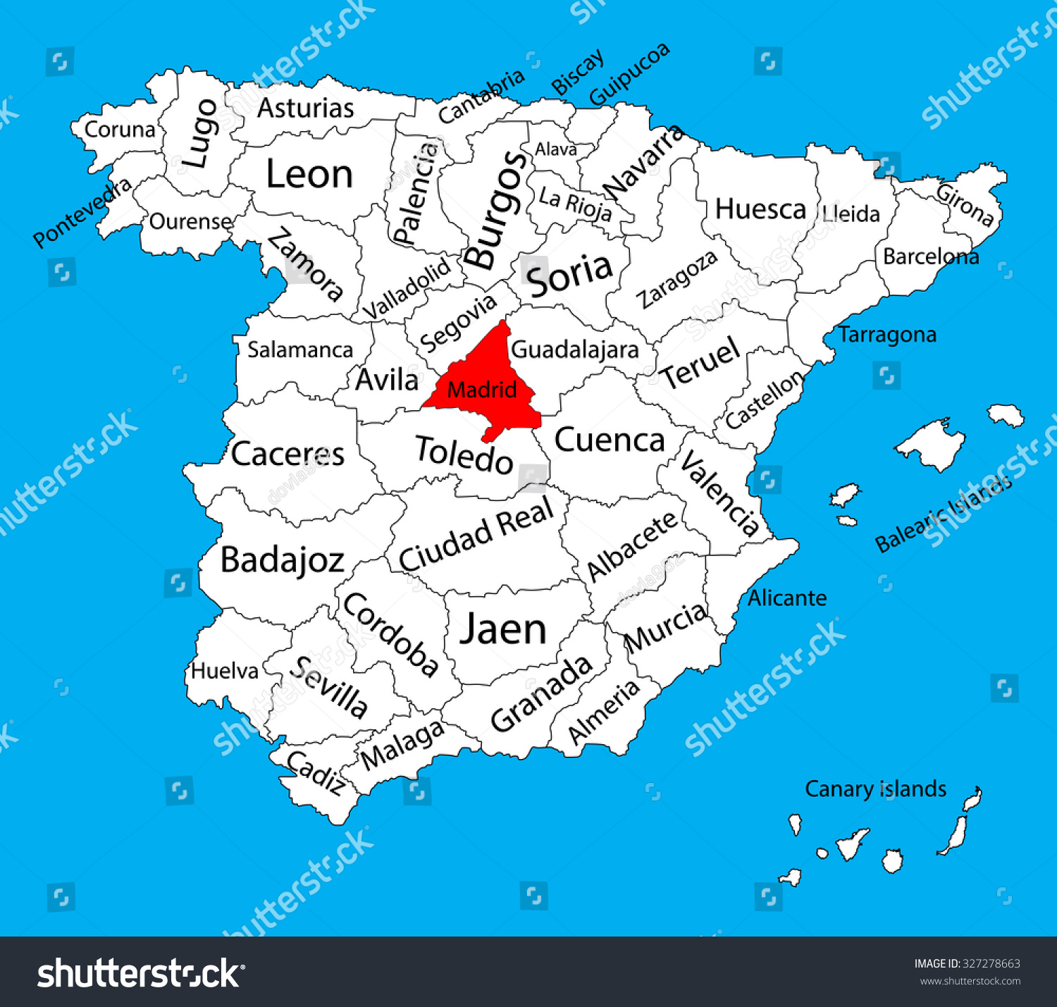 madrid map spain province vector map stock vector   - madrid map spain province vector map stock vector   shutterstock