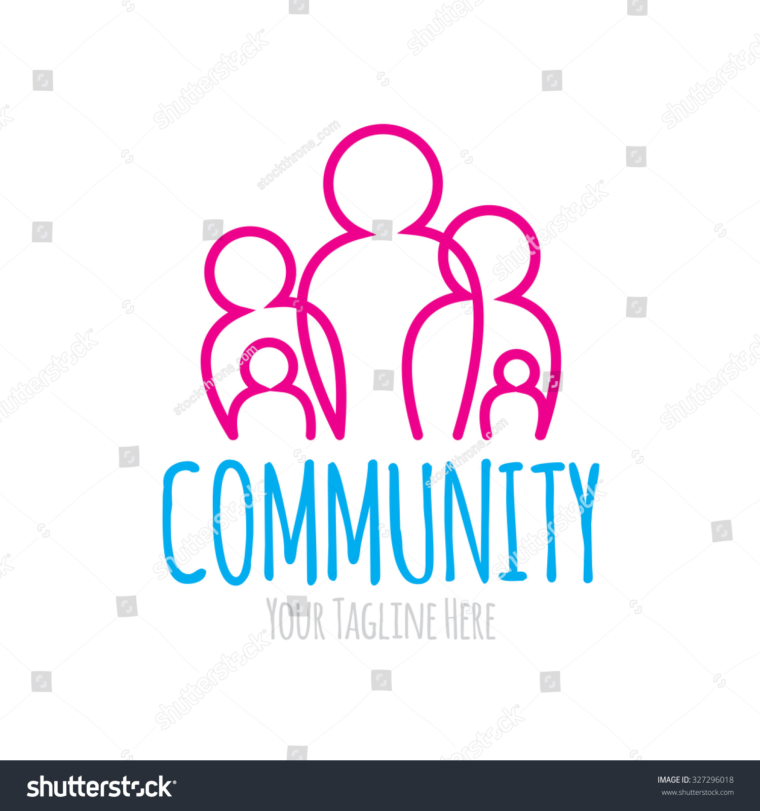 Community Logo Stock Vector 327296018 - Shutterstock