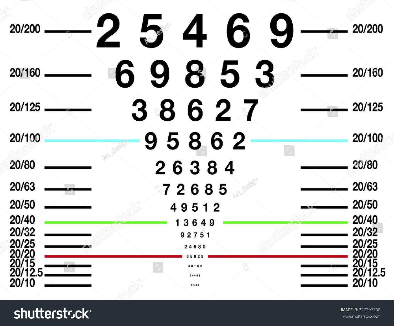 Eye Sight Test Chart Snellen Chart Stock Vector Royalty Free