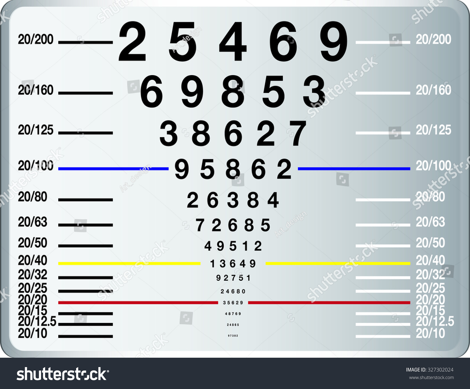 Eye Sight Test Chart Snellen Chart Stock Vector Royalty Free