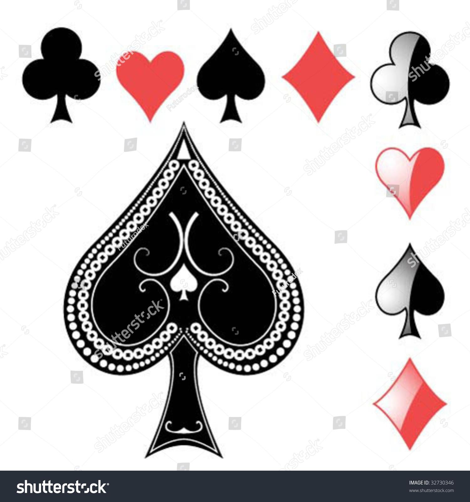 Vector card symbols ace spades stock vector 32730346 shutterstock vector card symbols with ace of spades biocorpaavc Choice Image