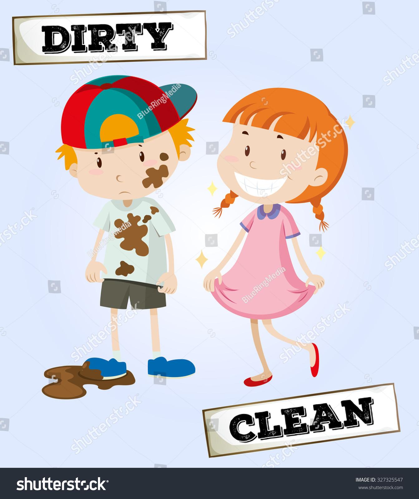 Dirty Boy Clean Girl Illustration Stock Vector 327325547 ... (1343 x 1600 Pixel)