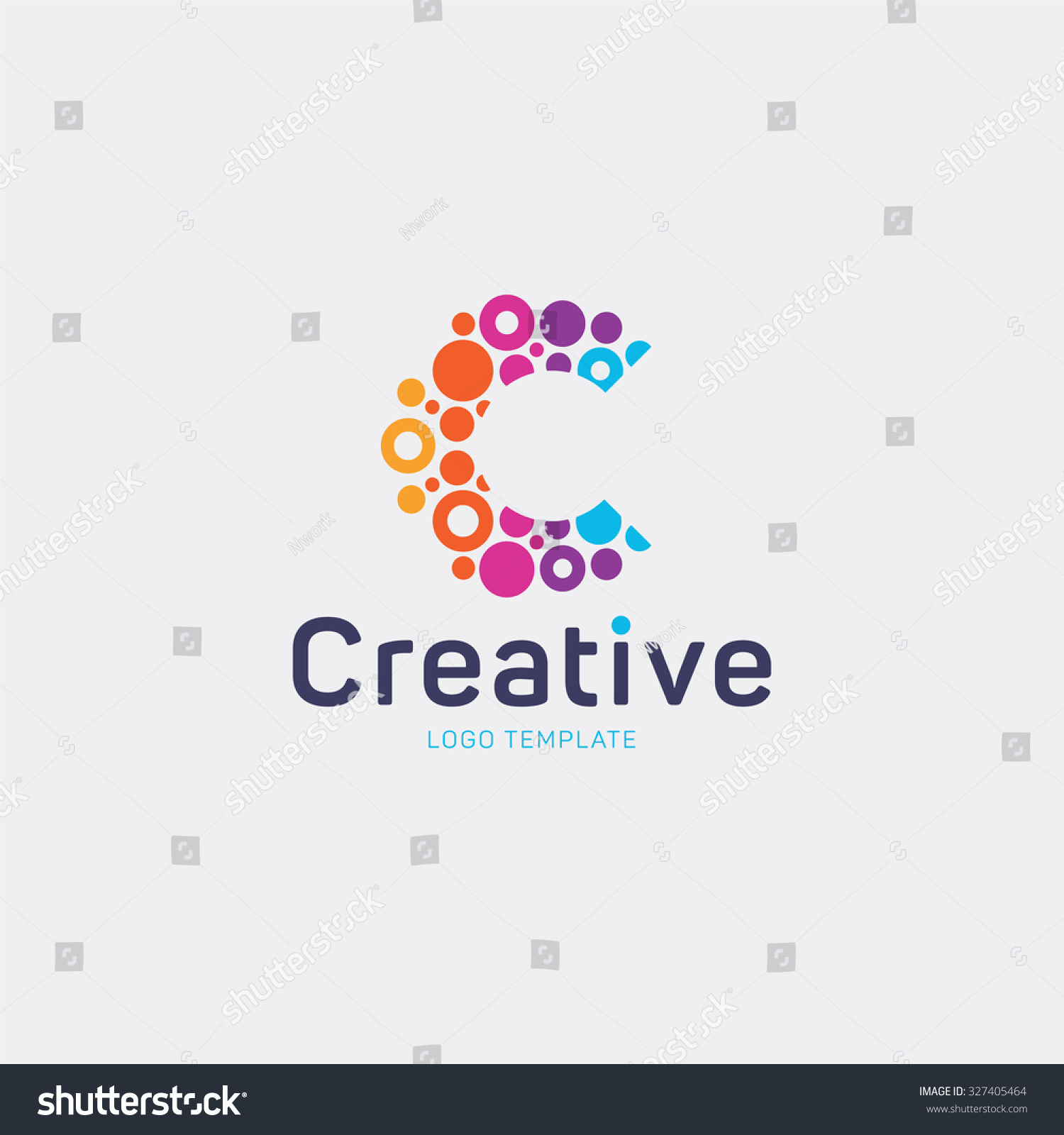 Stock Vector Creative Logo Design Letter Abstract Colorful Dots Photo Agencies Editor