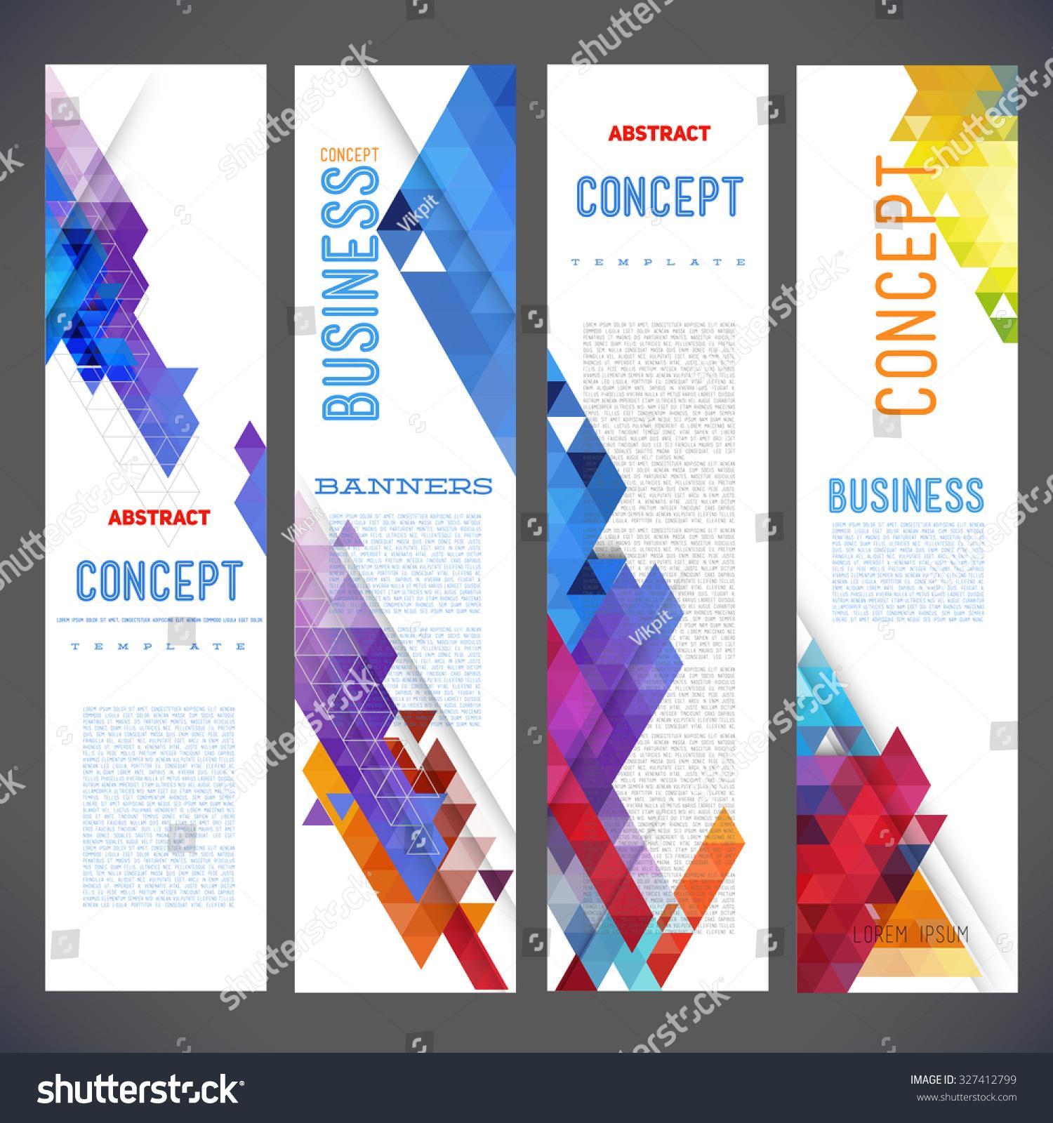 Abstract Design Banners Vector Template Design Stock Vector ...