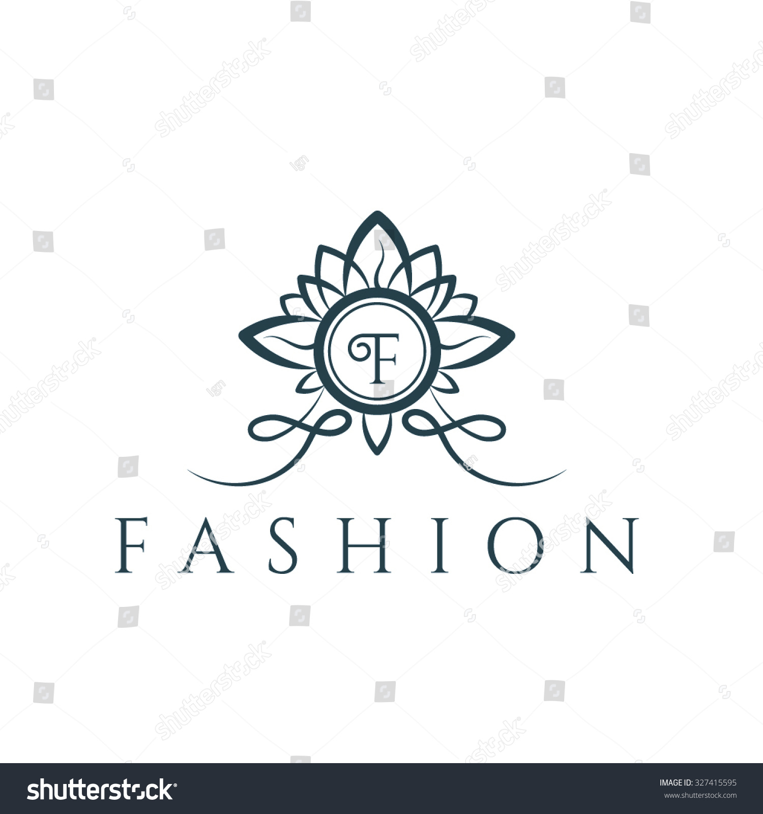 Vintage Fashion Vector Logo Template Sign Stock Vector 327415595 Shutterstock
