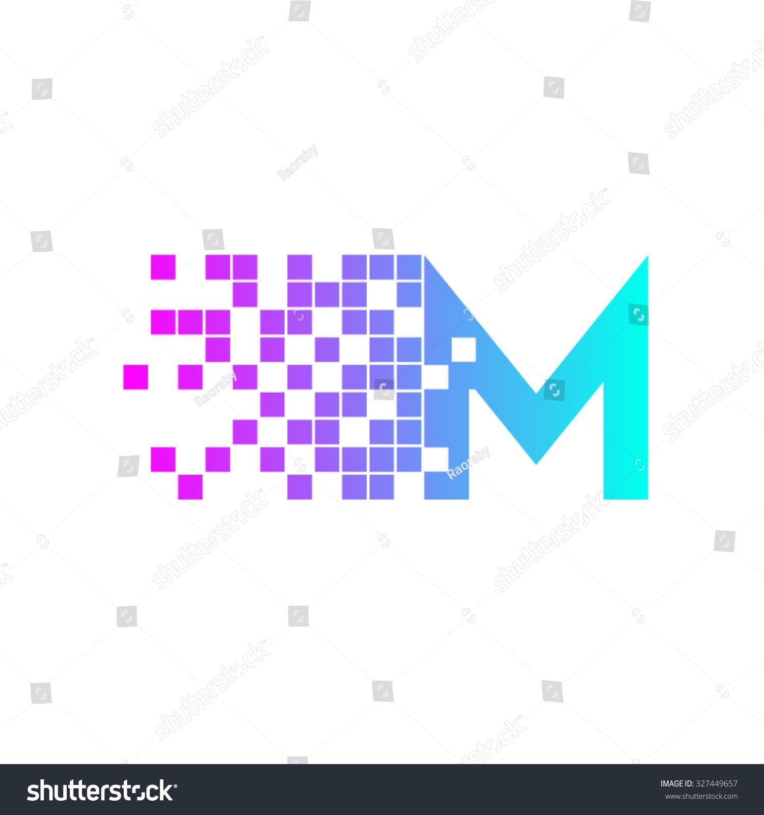 Letter M Logo Designnetwork Digital Logo Stock Vector
