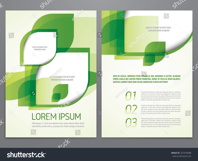 environment brochure template - vector eco flyer poster brochure magazine stock vector