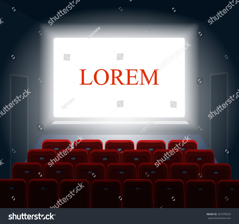Cinema White Screen Theater Show Presentation Stock Vector 327478529 ...