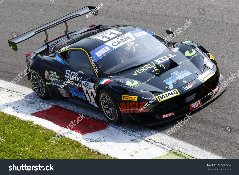 Circuit Monza Italia : Ferrari italia gt italian gt at monza editorial photo