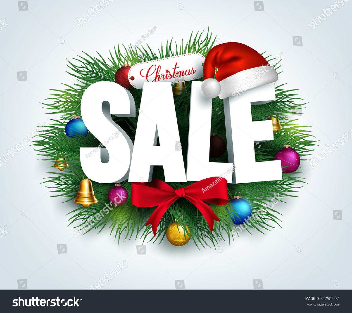d stock promotion image leaves on in christmas decorations a for decor and background text vector photo sale with white