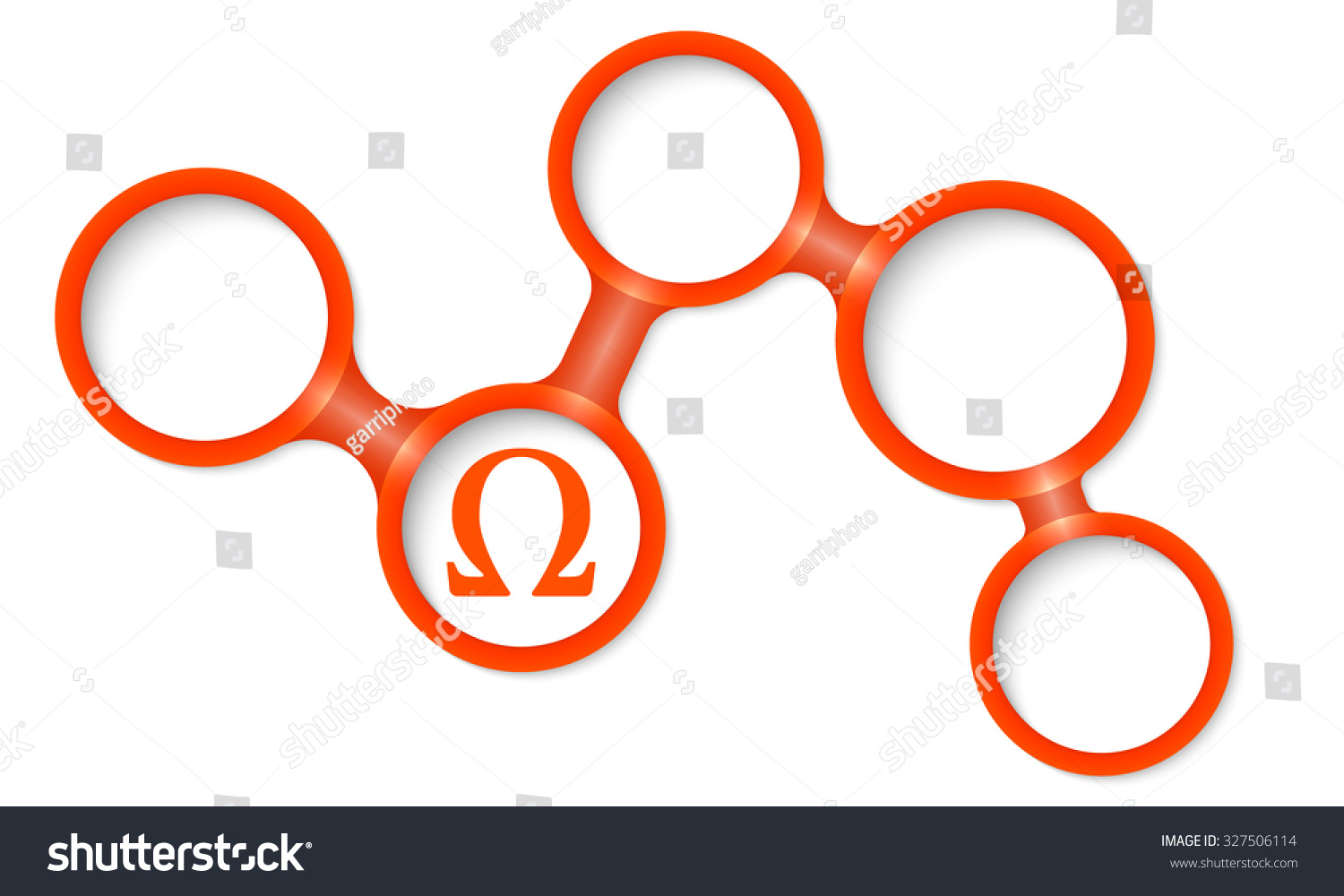 Abstract Circular Frames Your Text Omega Stock Vector Royalty Free