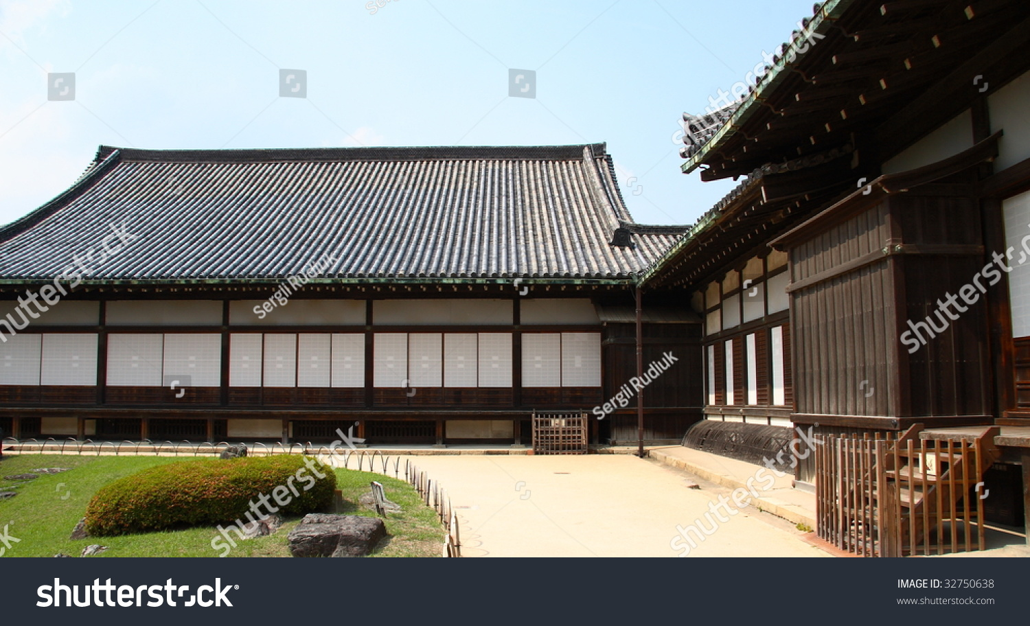 ancient japanese architecture. panorama of ancient japanese architecture (kyoto)