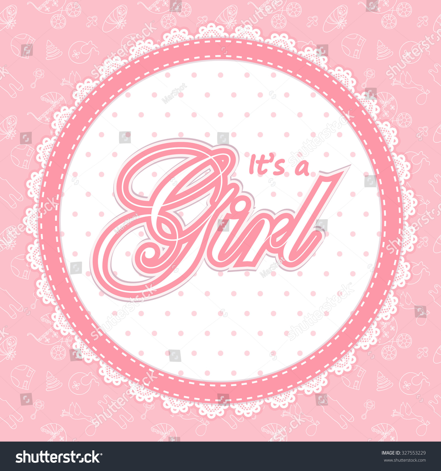 Baby Shower Card Girl Baby Shower Image Vectorielle De Stock Libre