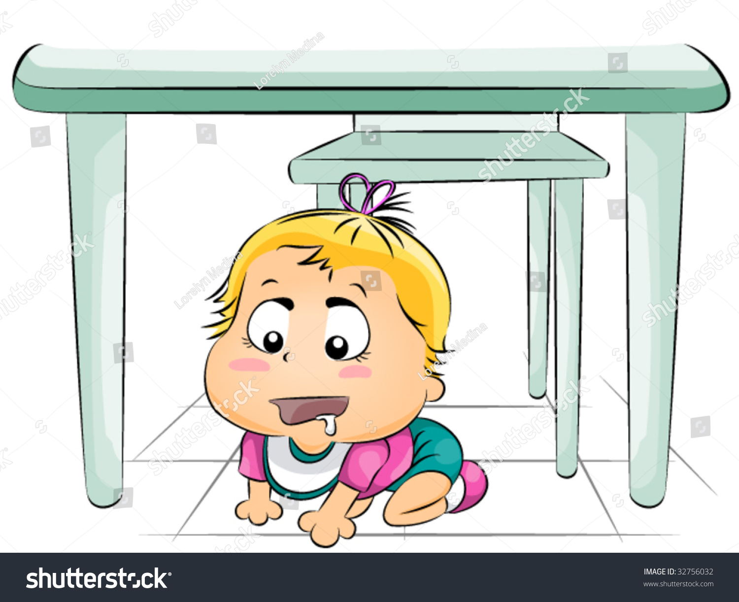 Http Shutterstock Com Pic 32756032 Stock Photo Hungry Baby Under The Table Vector Html