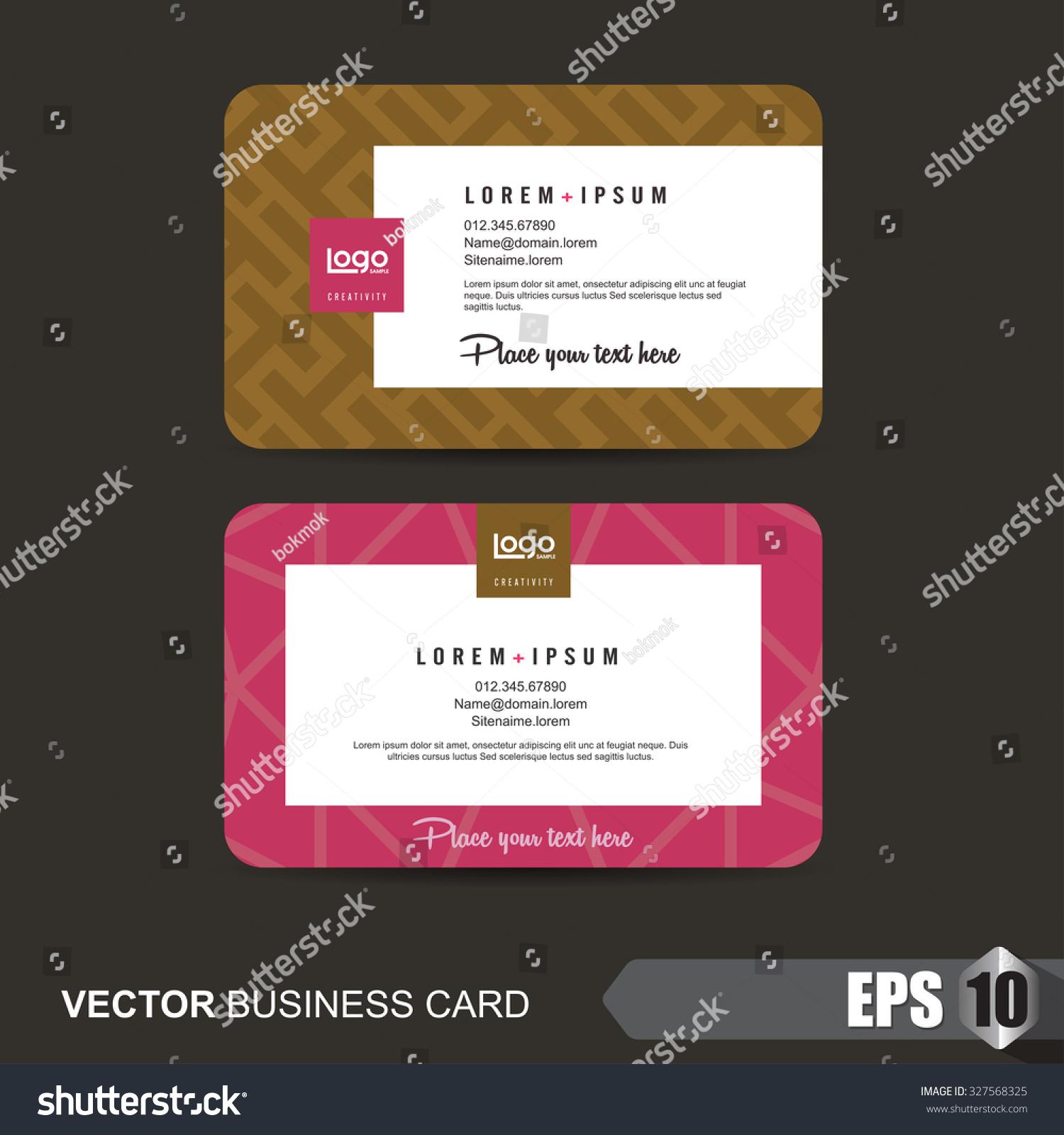Business Card Templatetaglabelvector Illustration Stock Vector ...