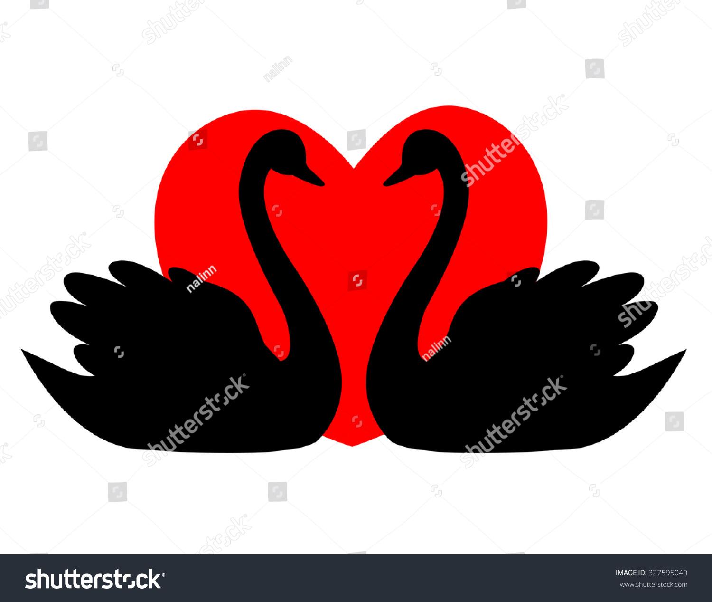 Swan Couple Love Illustration Clipart Isolated Stock Illustration ...
