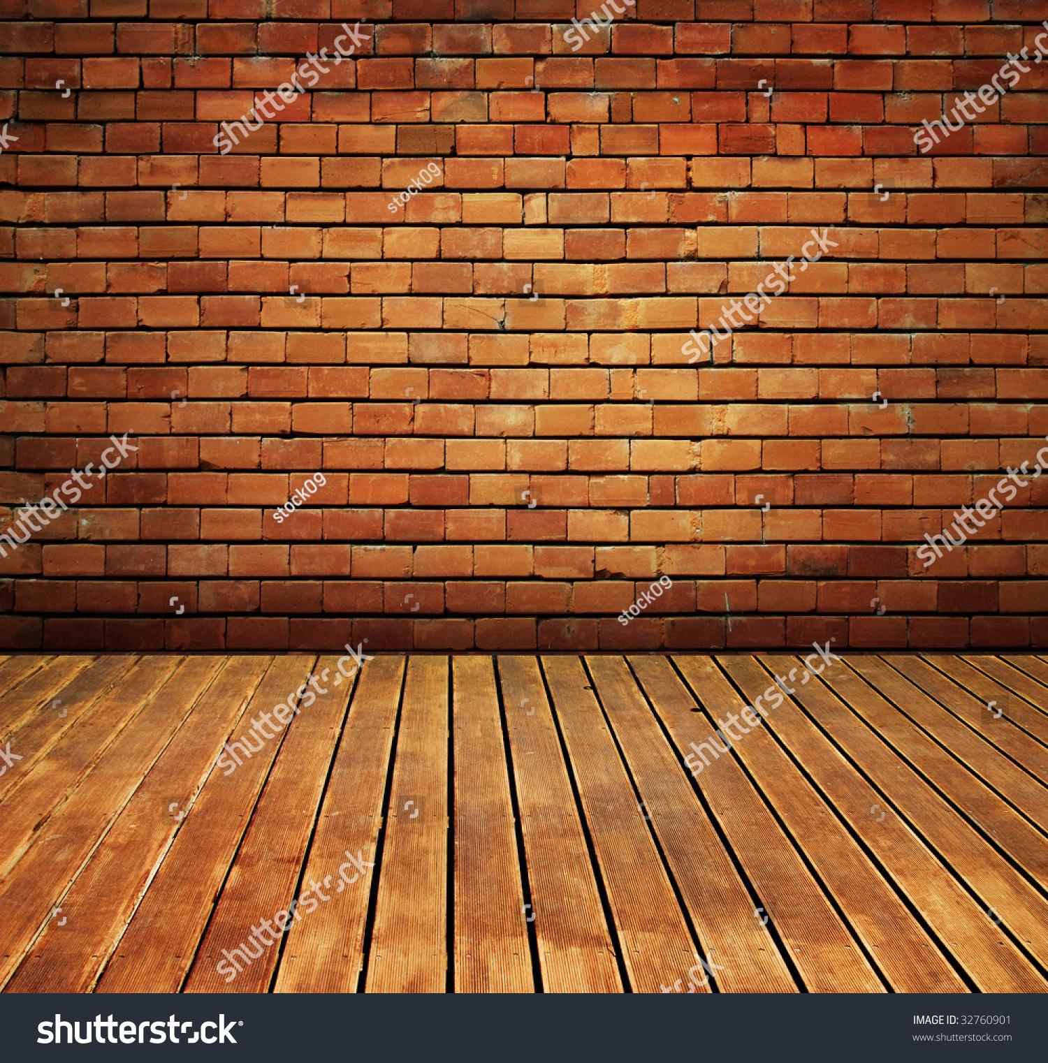 Vintage Brick Wall Wood Floor Texture Stock Photo 32760901 ...