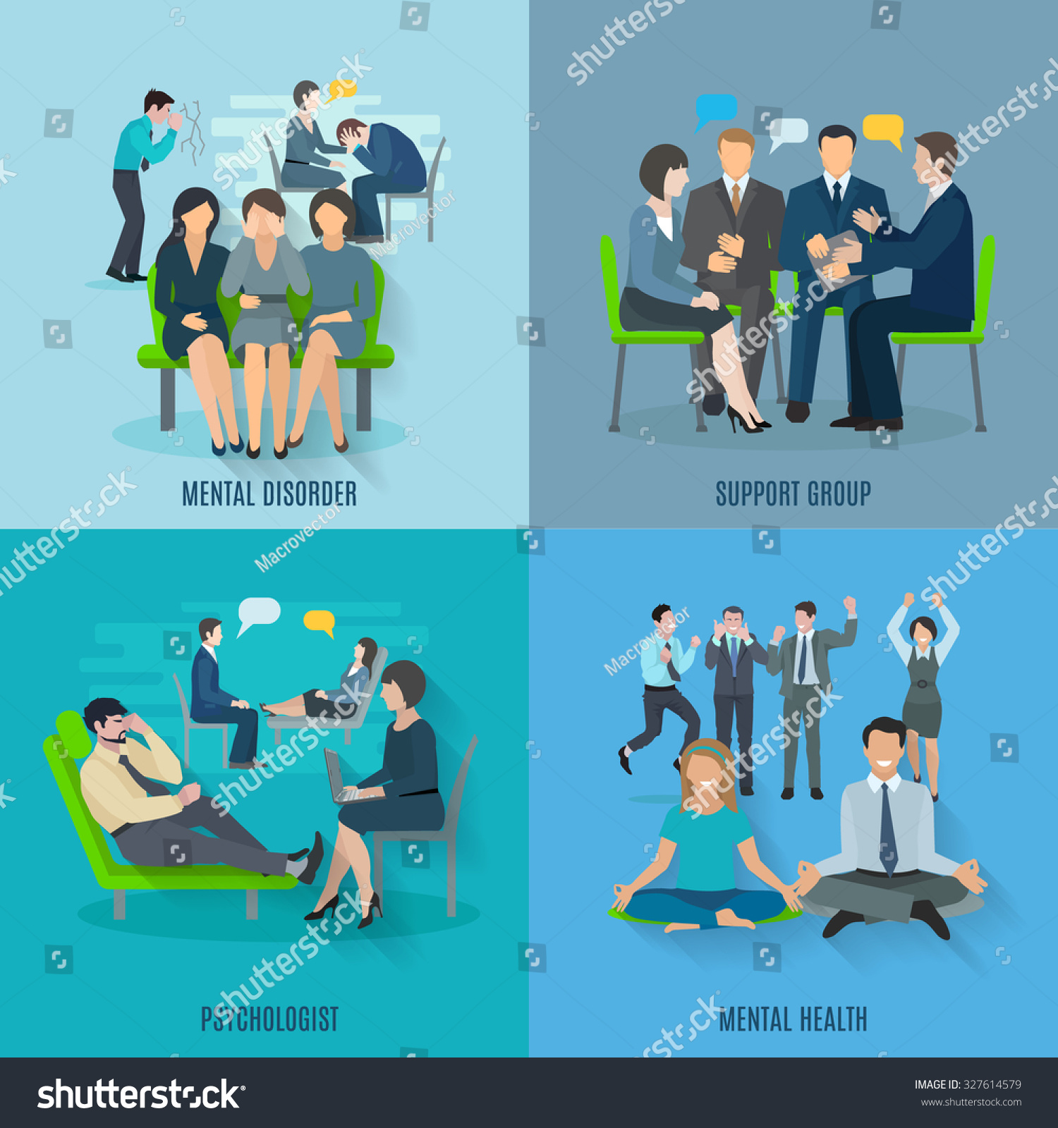 Mental Disorder Treatment By Psychologist Support Stock