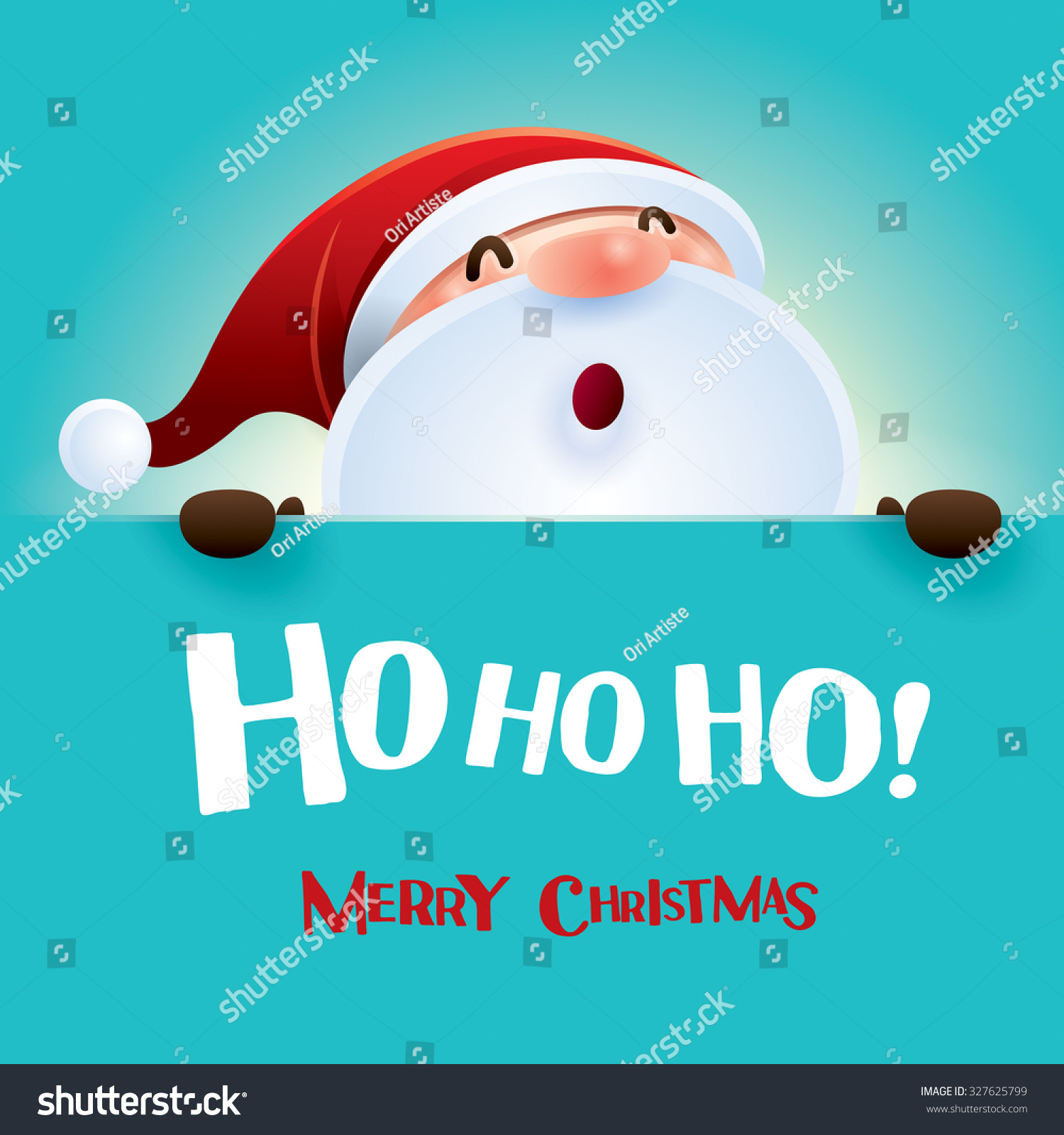Ho Ho Ho Merry Christmas Stock Vector 327625799 - Shutterstock